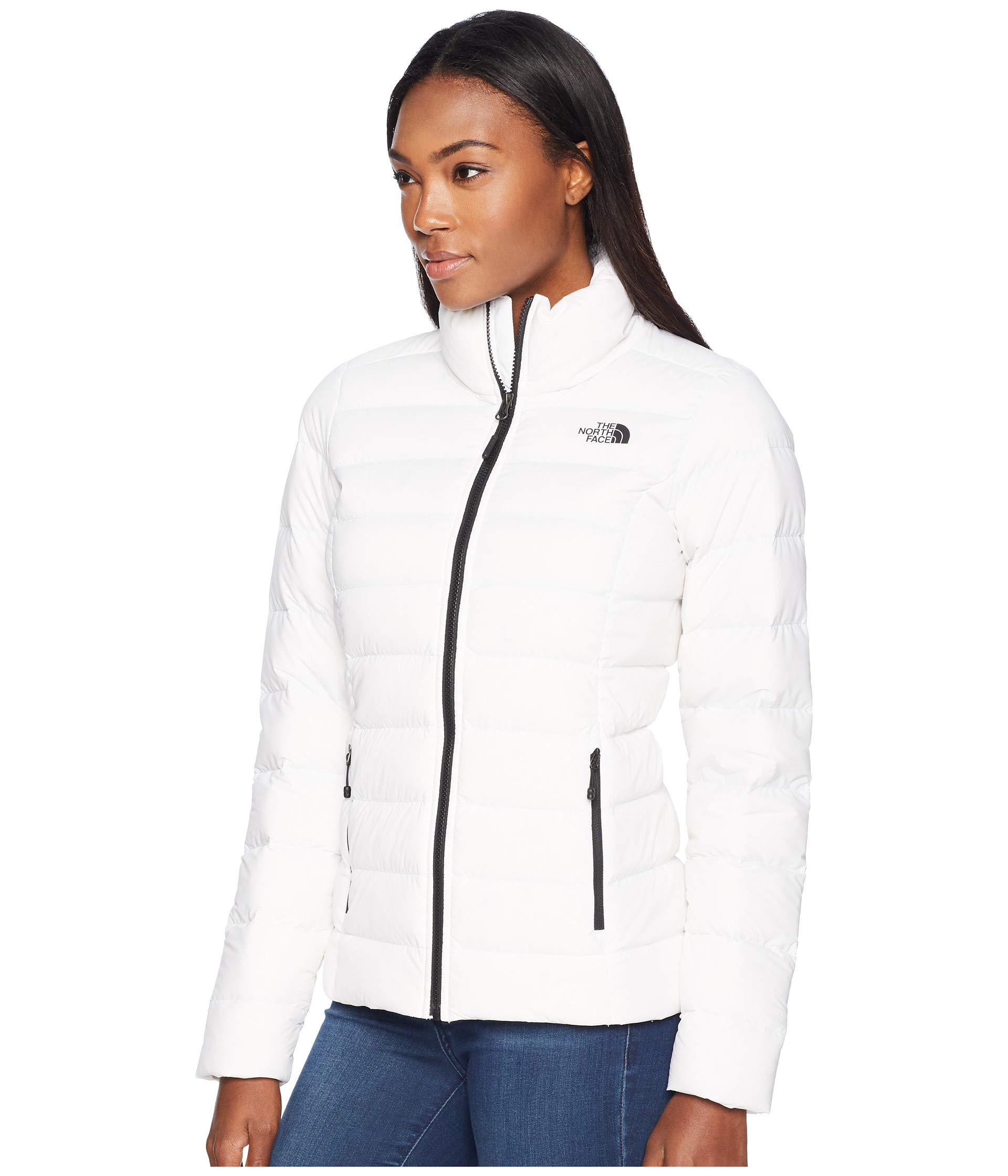 Lyst - The North Face Stretch Down Jacket (tnf Black) Women s Coat in White  - Save 52% 9fd7296d4