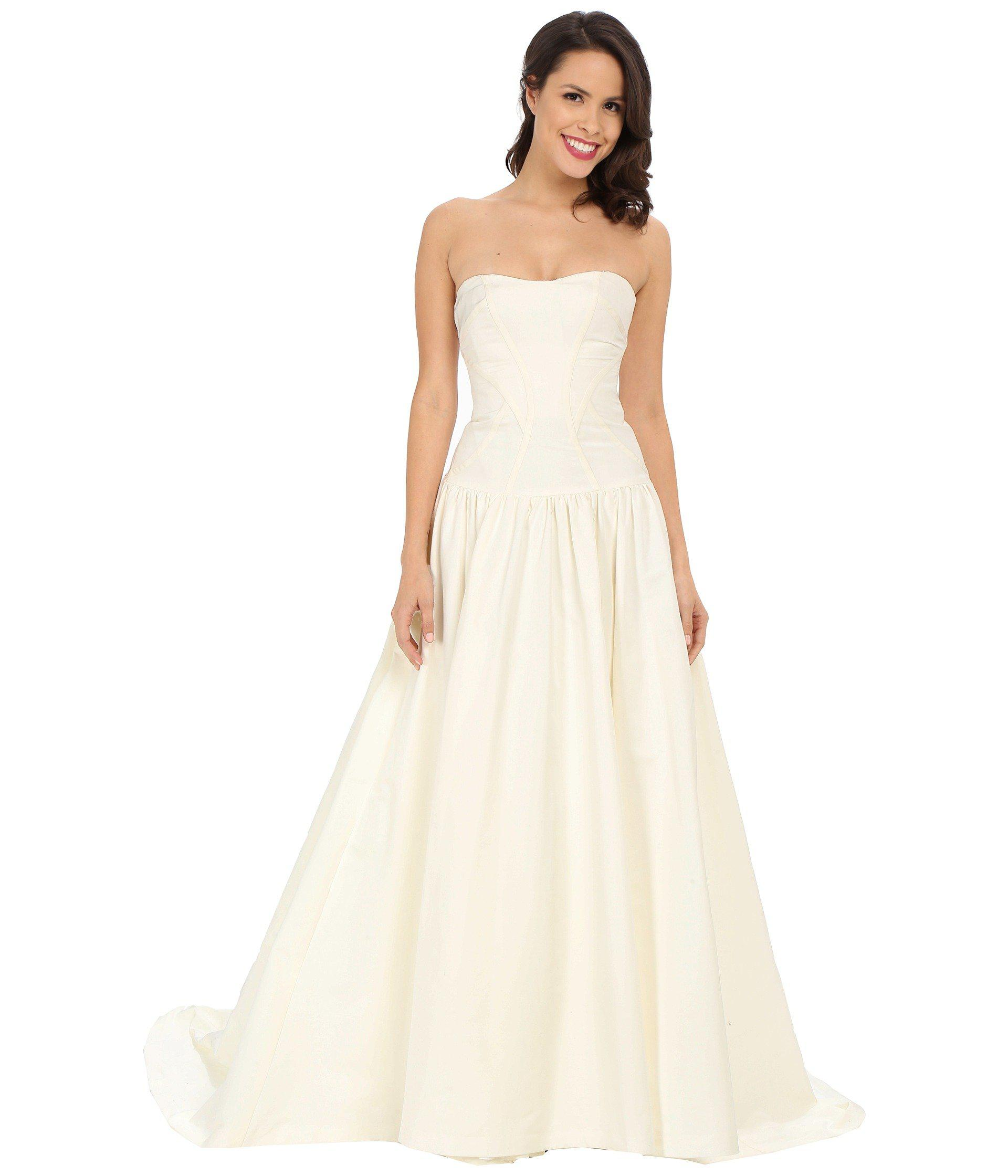 Lyst - Nicole Miller Laurel Silk Faille Bridal Gown in White