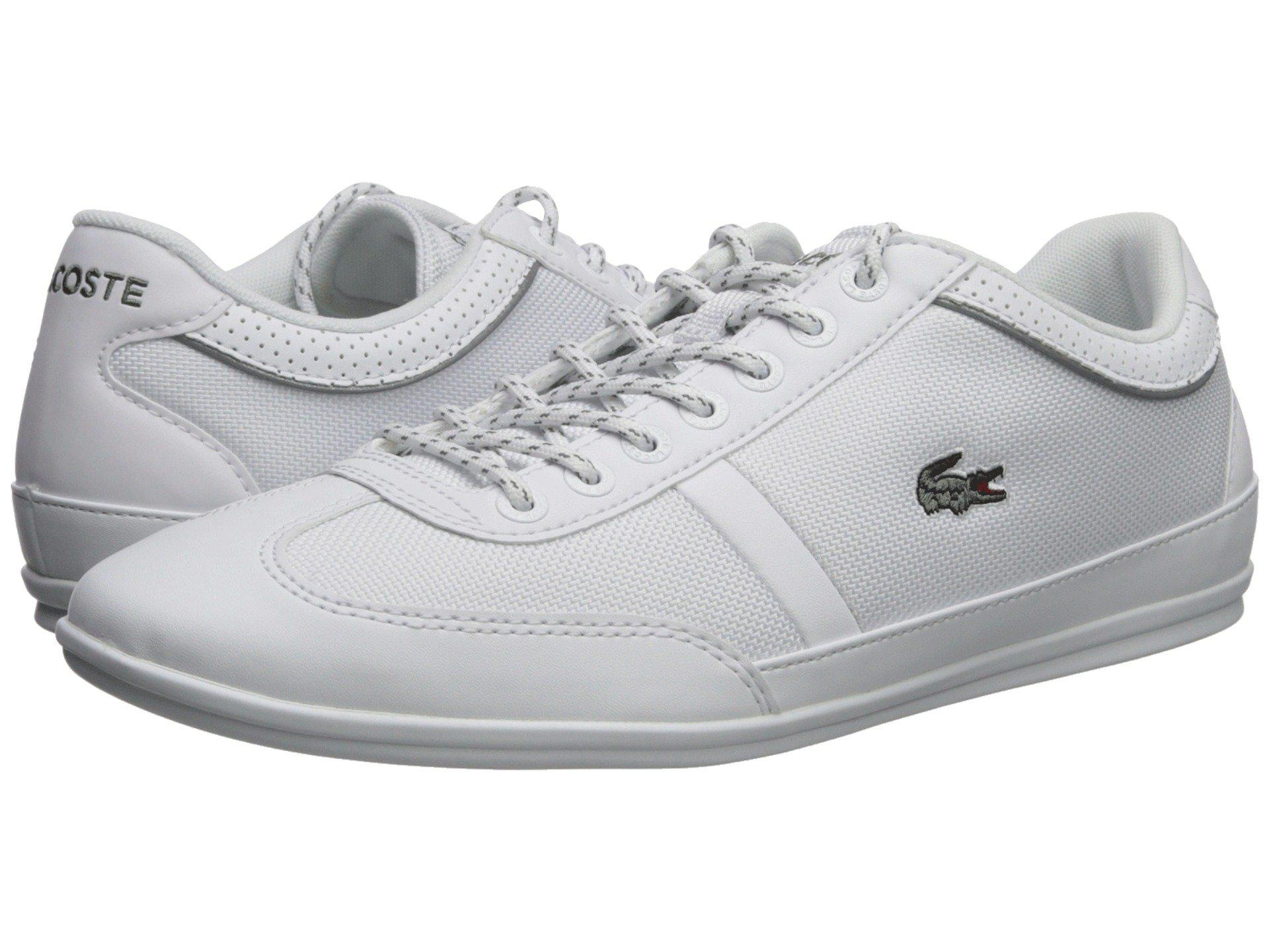 49c9408583b239 Lyst - Lacoste Misano Sport 218 1 (white white) Men s Shoes in White ...