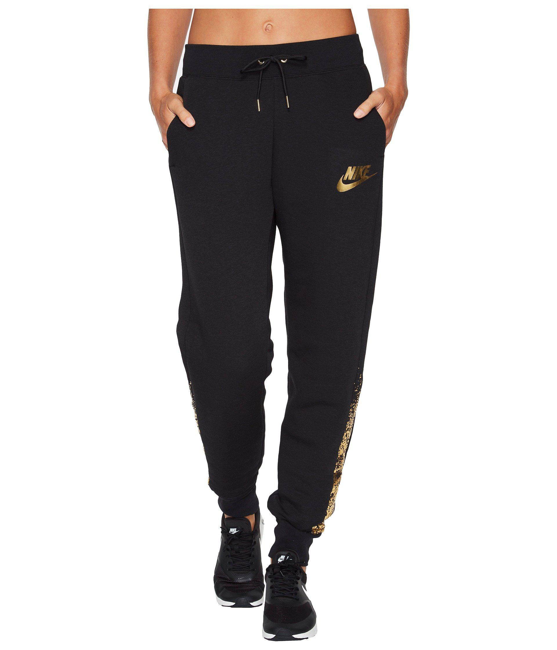 f6d3679cf7dd Lyst - Nike Sportswear Rally Metallic Pant (black black) Women s ...