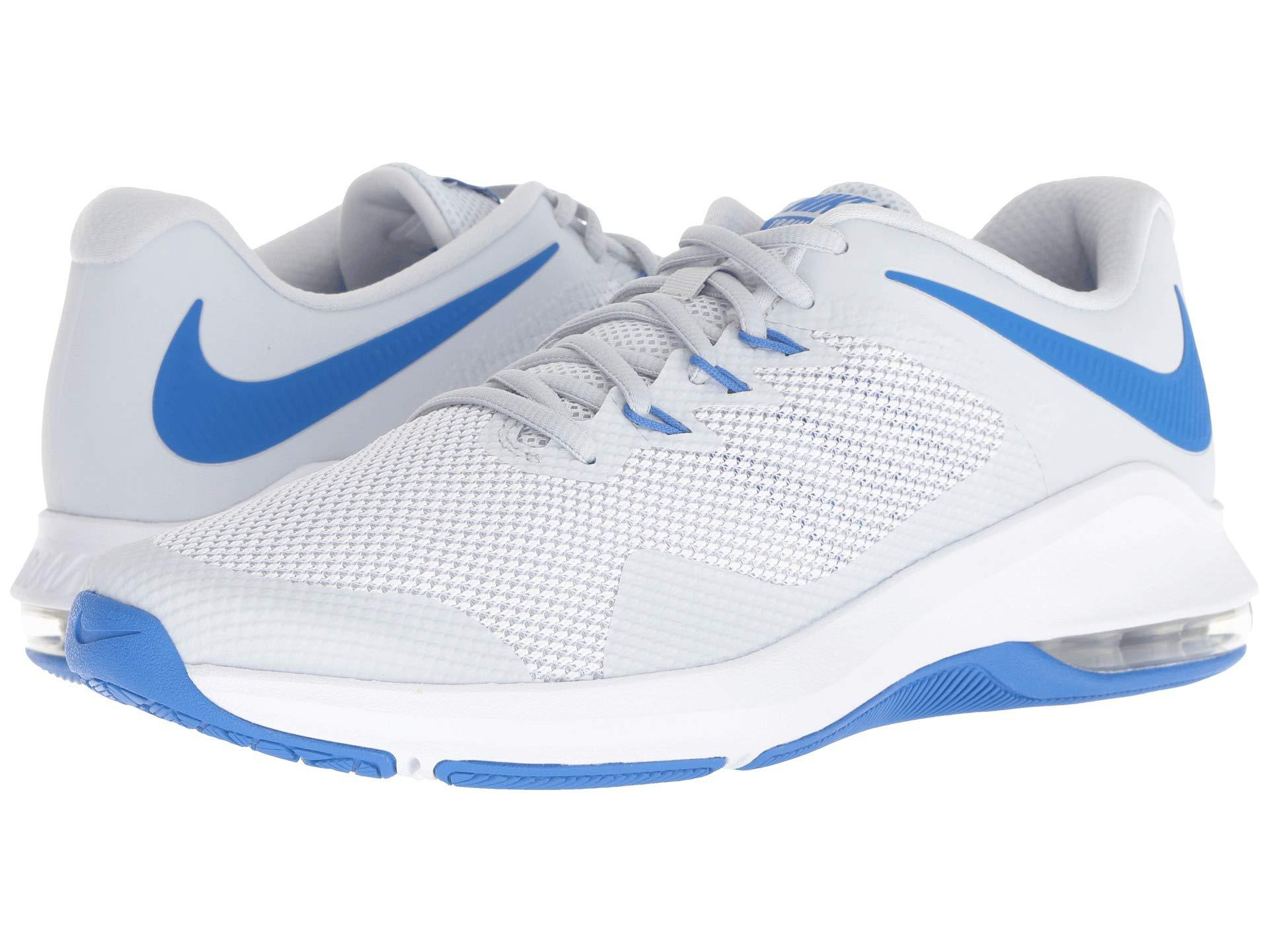 c098ff08693e0d Lyst - Nike Air Max Alpha Trainer (pure Platinum white signal Blue ...