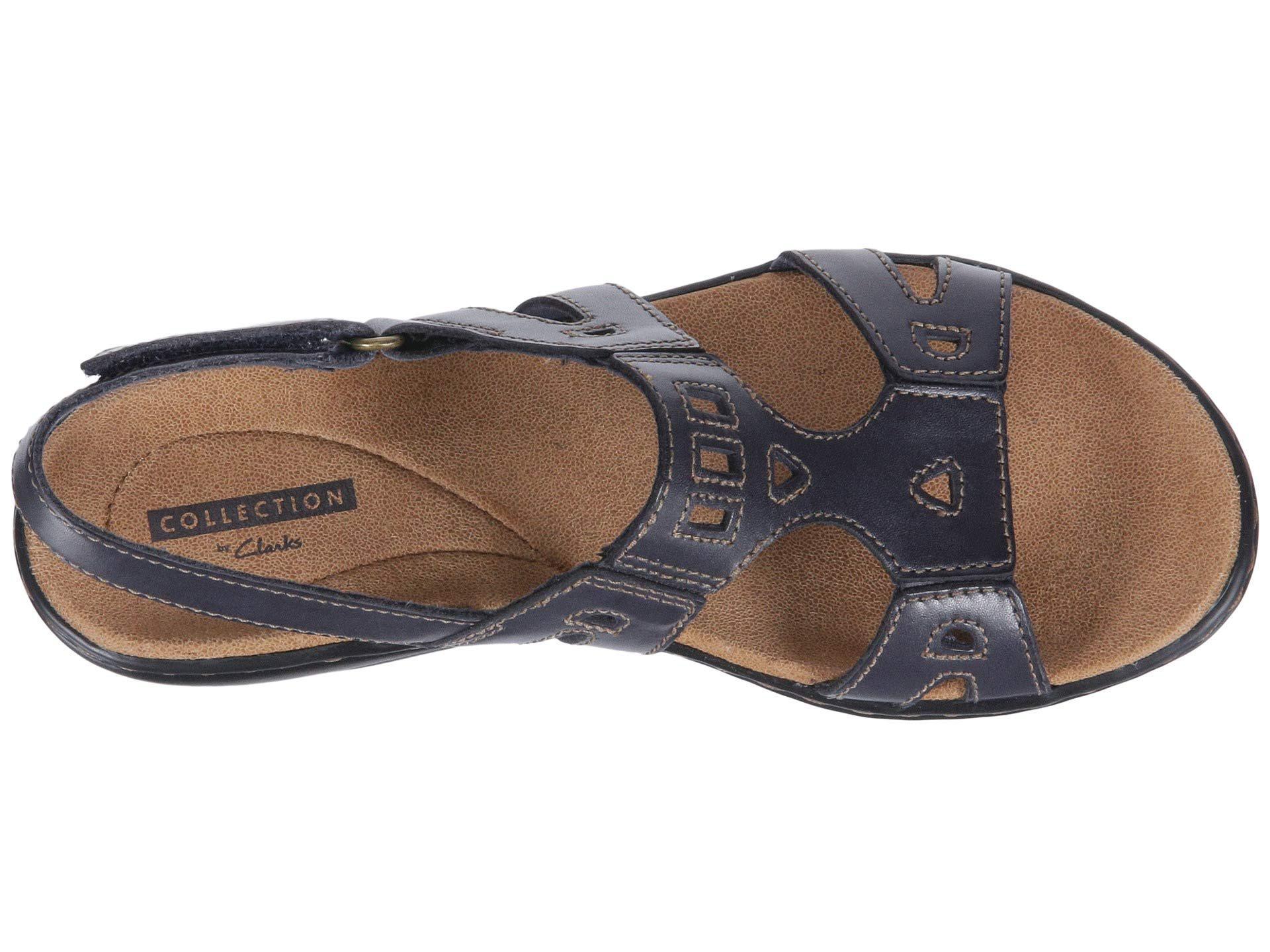 6537b9ec5f94 Clarks - Blue Leisa Annual (dark Tan Leather) Women s Sandals - Lyst. View  fullscreen