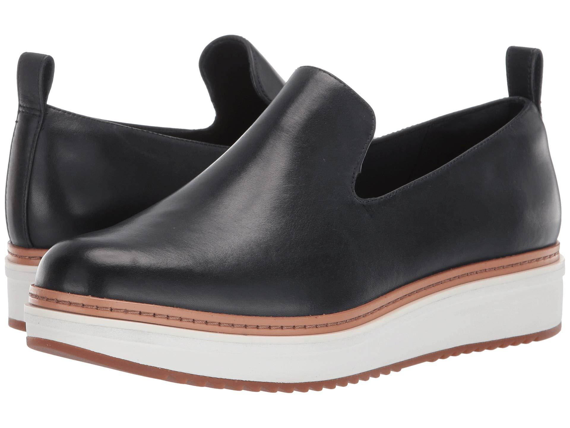 7e1664436ee Lyst - Clarks Teadale Genna (grey Leather) Women s Slip On Shoes