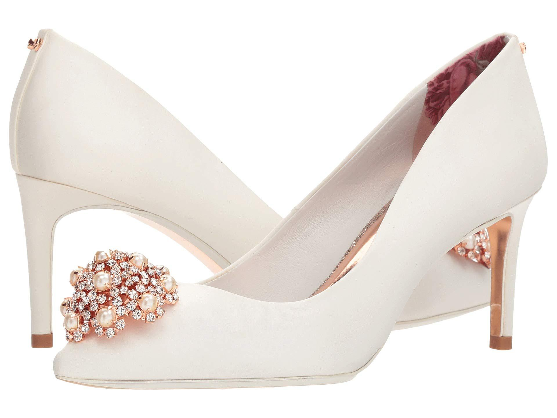 f64fd65c2d0 Lyst - Ted Baker Dahrlin Pump in White - Save 62%