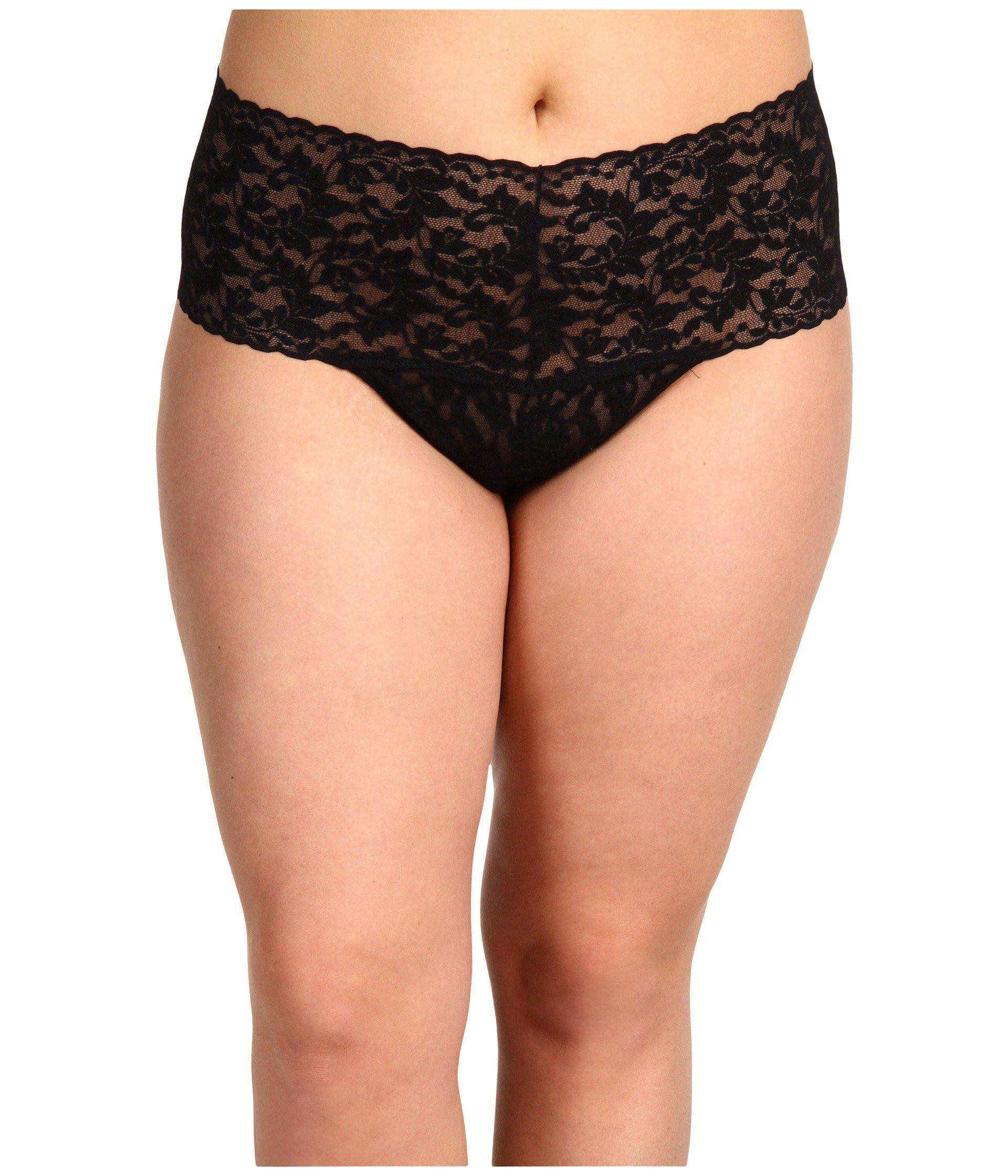 91350be26f94 Hanky Panky. Plus Size Signature Lace Retro Thong (black) Women's Underwear