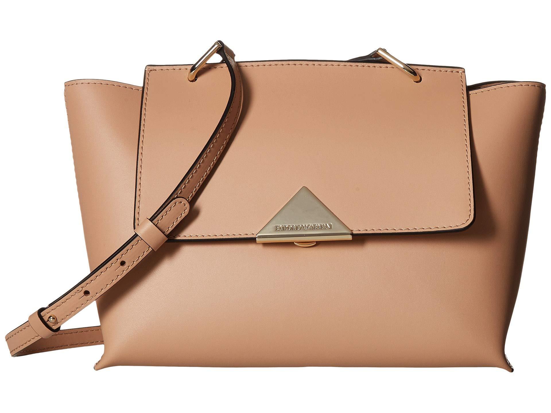 787a513ab425 Lyst - Emporio Armani Handbag (nude) Cross Body Handbags in Natural