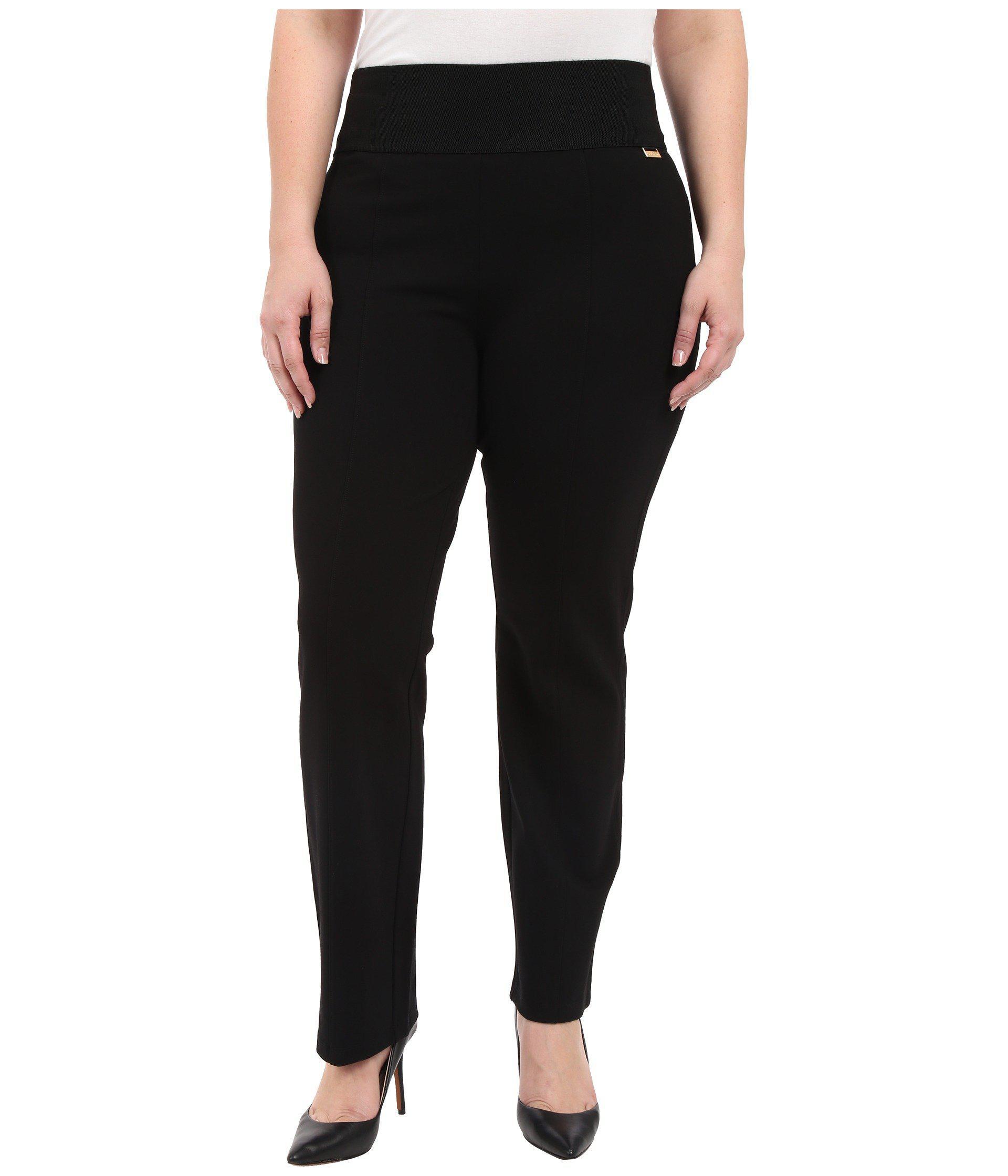 42244d9fa3cf Calvin Klein. Plus Size Wide Waist Straight Pants (black) Women s Casual  Pants