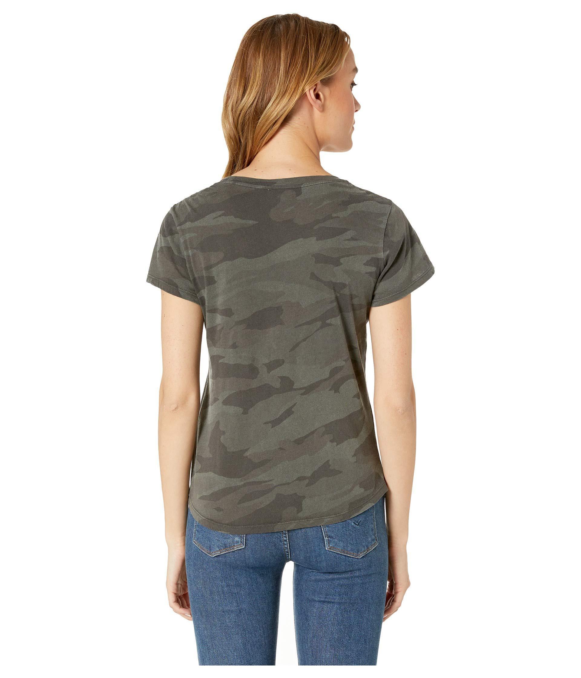 37eb89fee Splendid Abbie Camo Crew Tee (vintage Olive Branch) Women's T Shirt ...