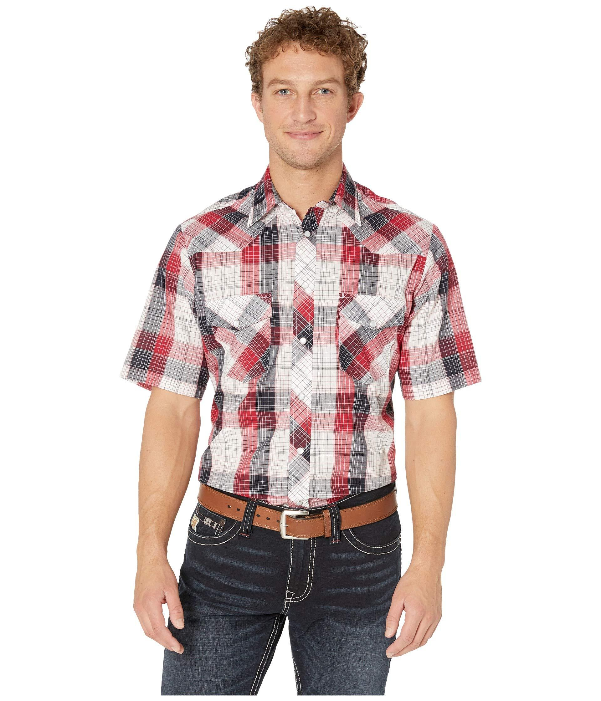 f6ca7218 Lyst - Roper 2793 Red, White And Blue Plaid (red) Men's Clothing in ...