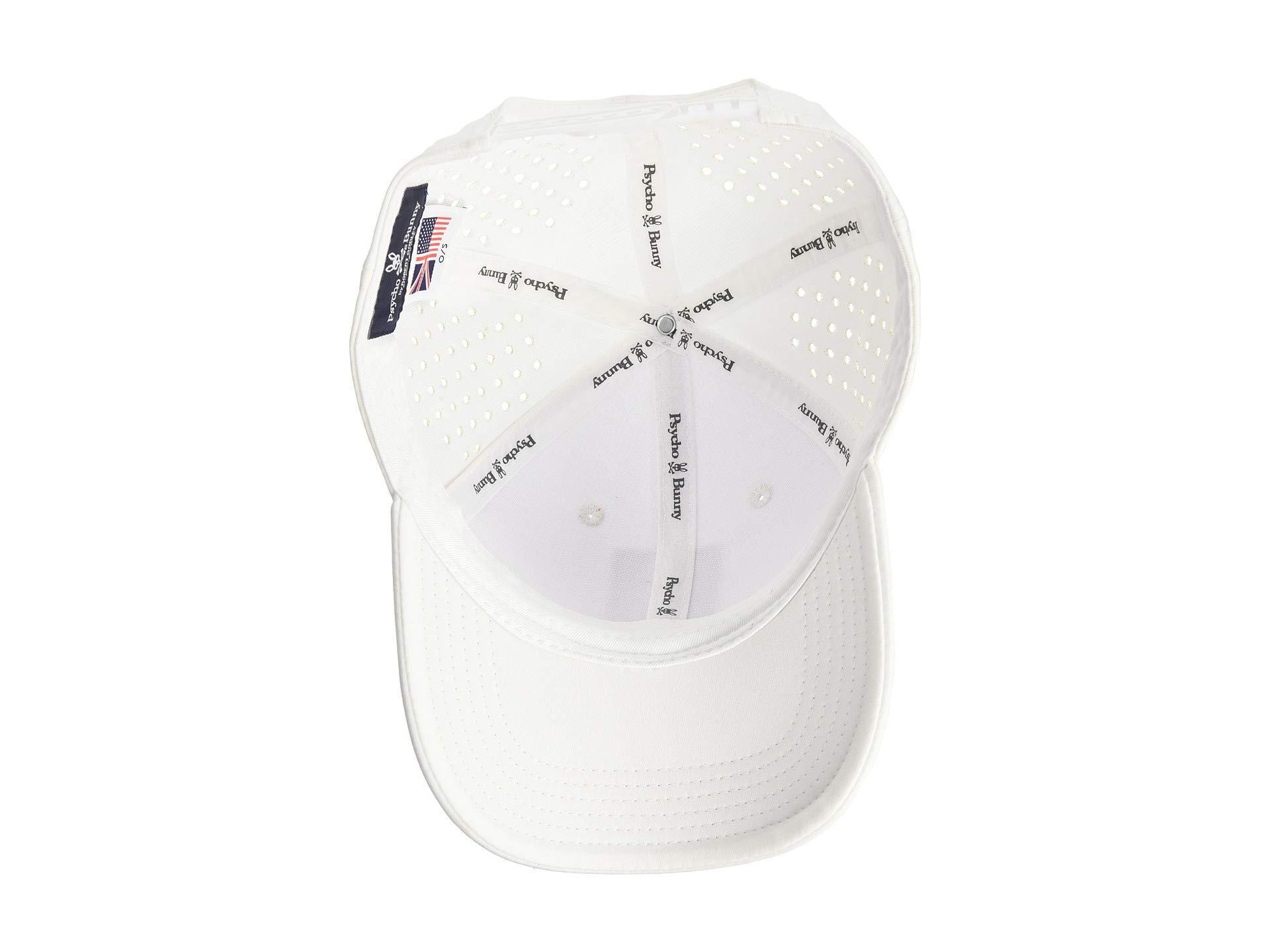 5e765393b04 Psycho Bunny - White Sport Performance Baseball Cap (mako) Baseball Caps  for Men -. View fullscreen