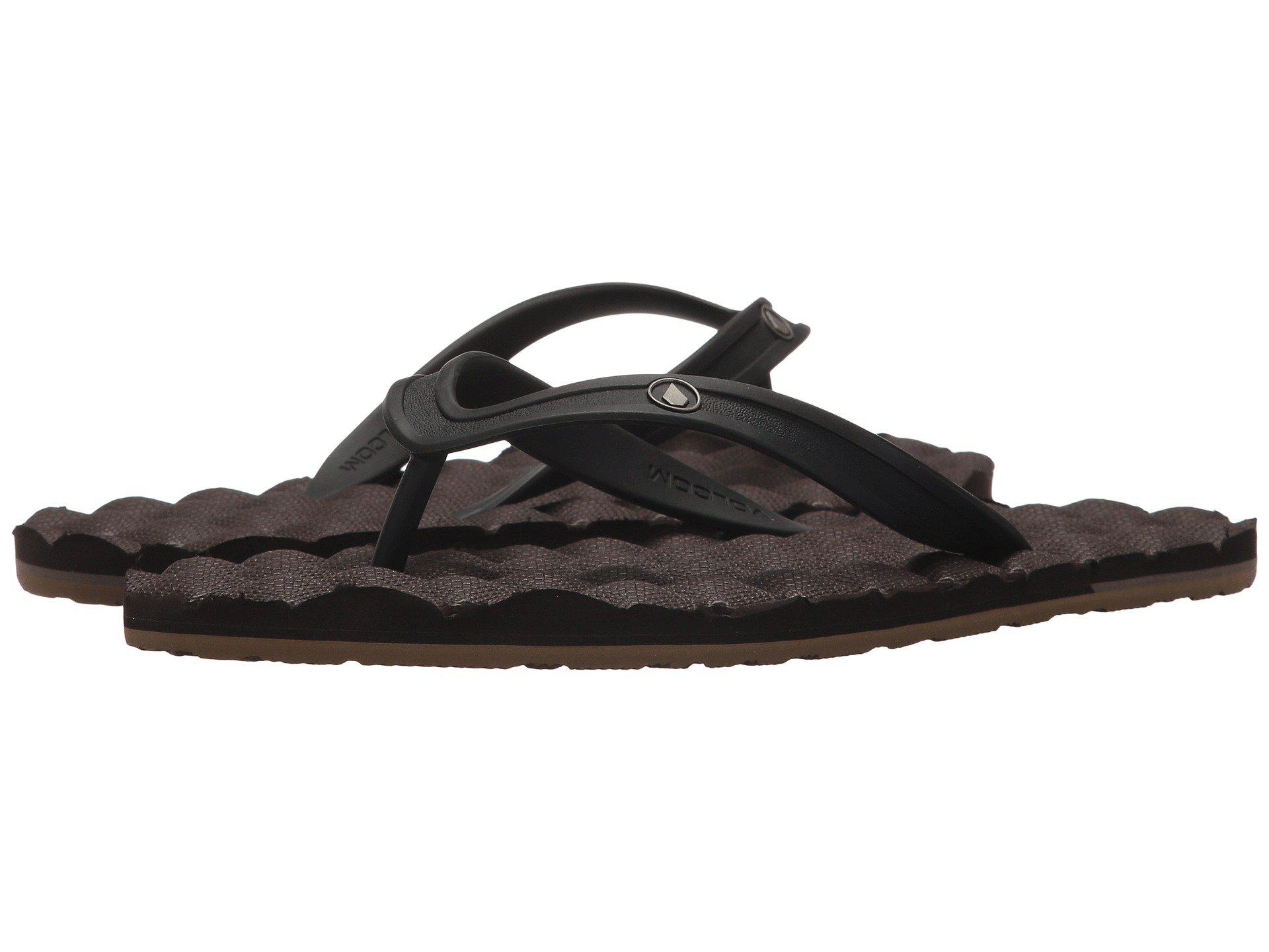 e489b4ed1522 Lyst - Volcom Recliner Rubber 2 Sandal (black) Men s Shoes in Brown ...