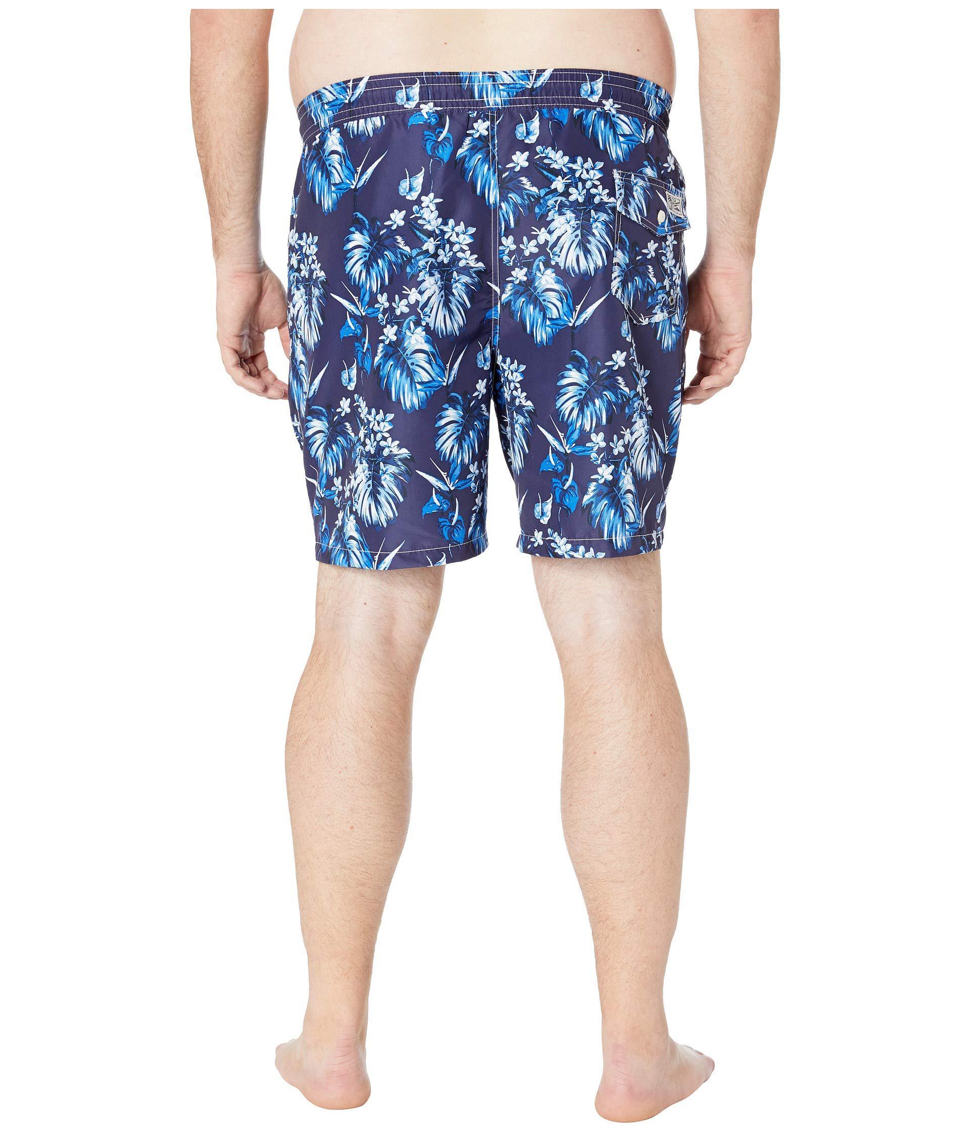 8a7d0f803a Polo Ralph Lauren Big And Tall Polyester Traveler Swim Trunks (tonal ...