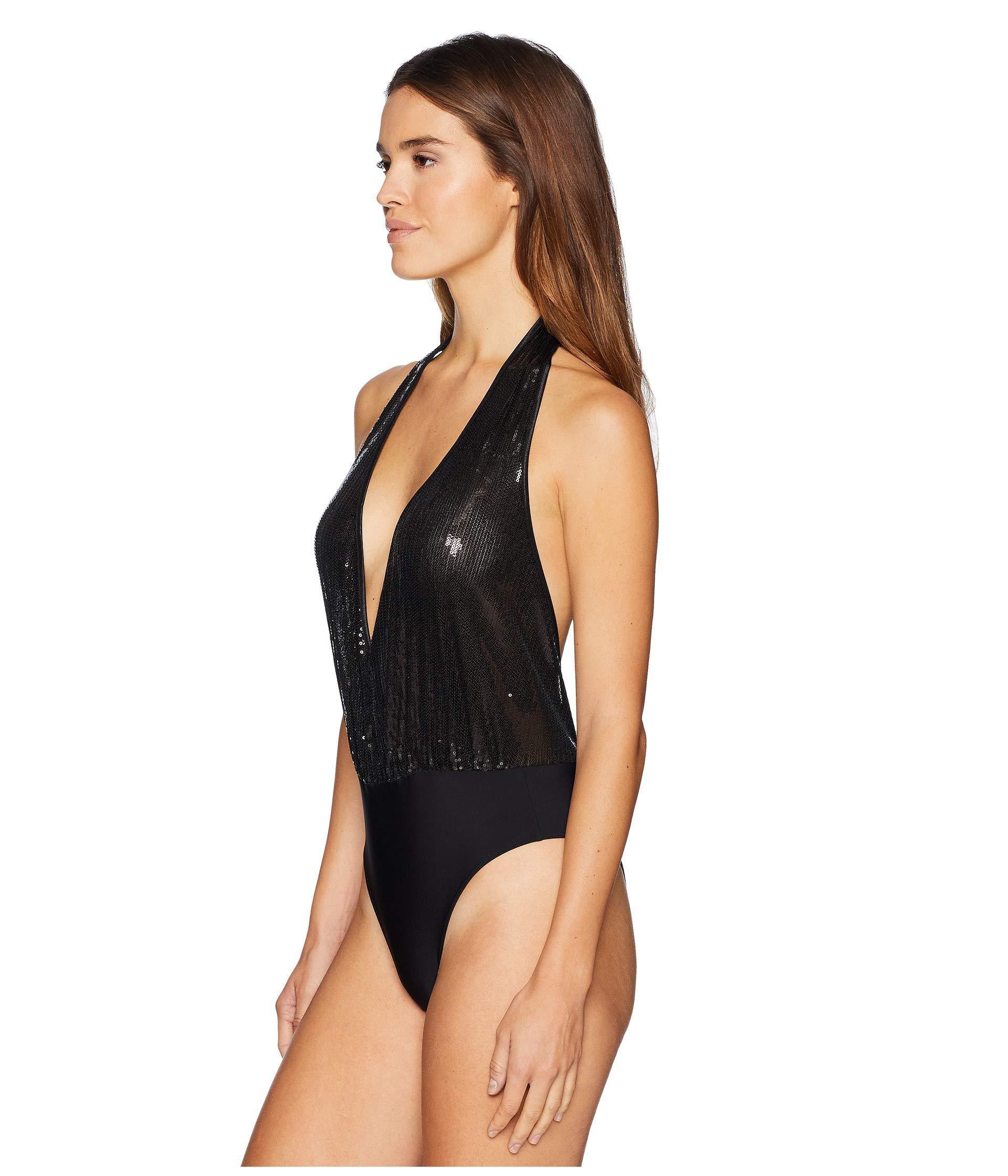 434445bcf4b Lyst - Felina Skye Sequin Bodysuit (black) Women s Jumpsuit ...