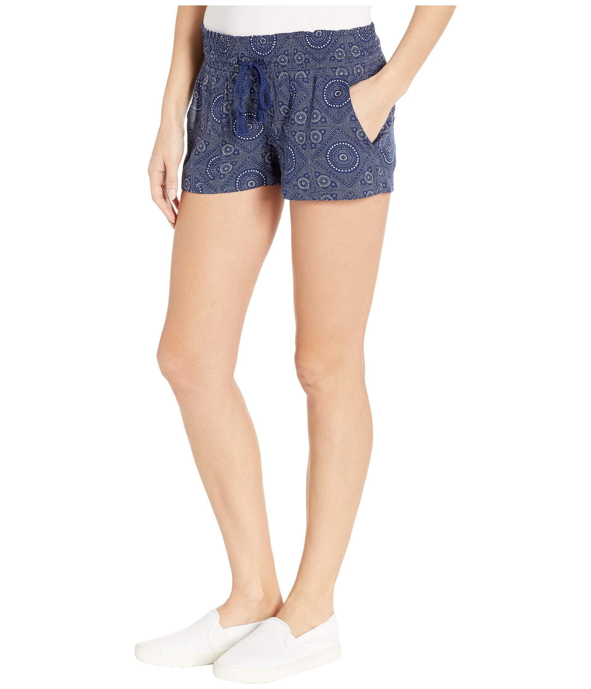 92ae5fef70 Lyst - Roxy Oceanside Beach Shorts (medieval Blue Shibori Nights) Women's  Shorts in Blue
