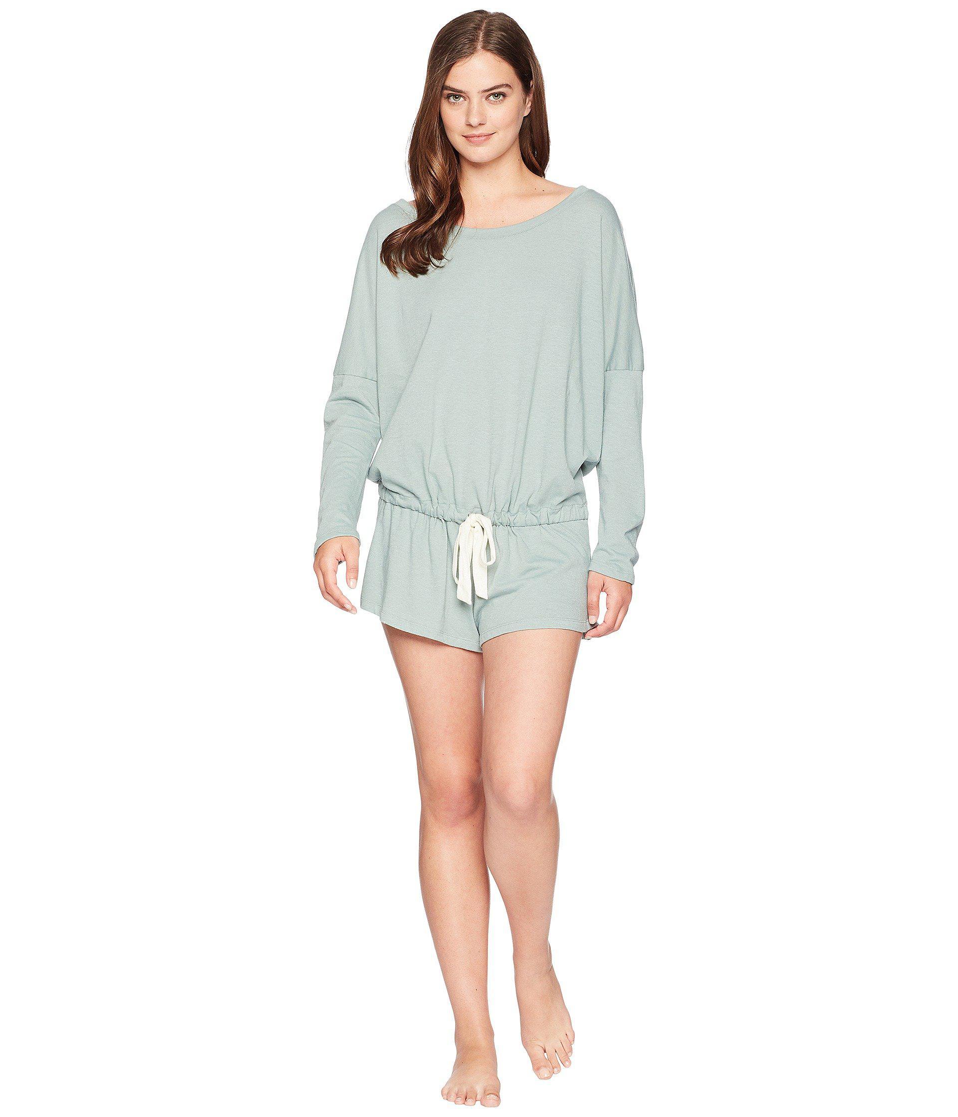 15284461294b Lyst - Eberjey Heather - The Lounge Teddy (moss) Women s Jumpsuit ...