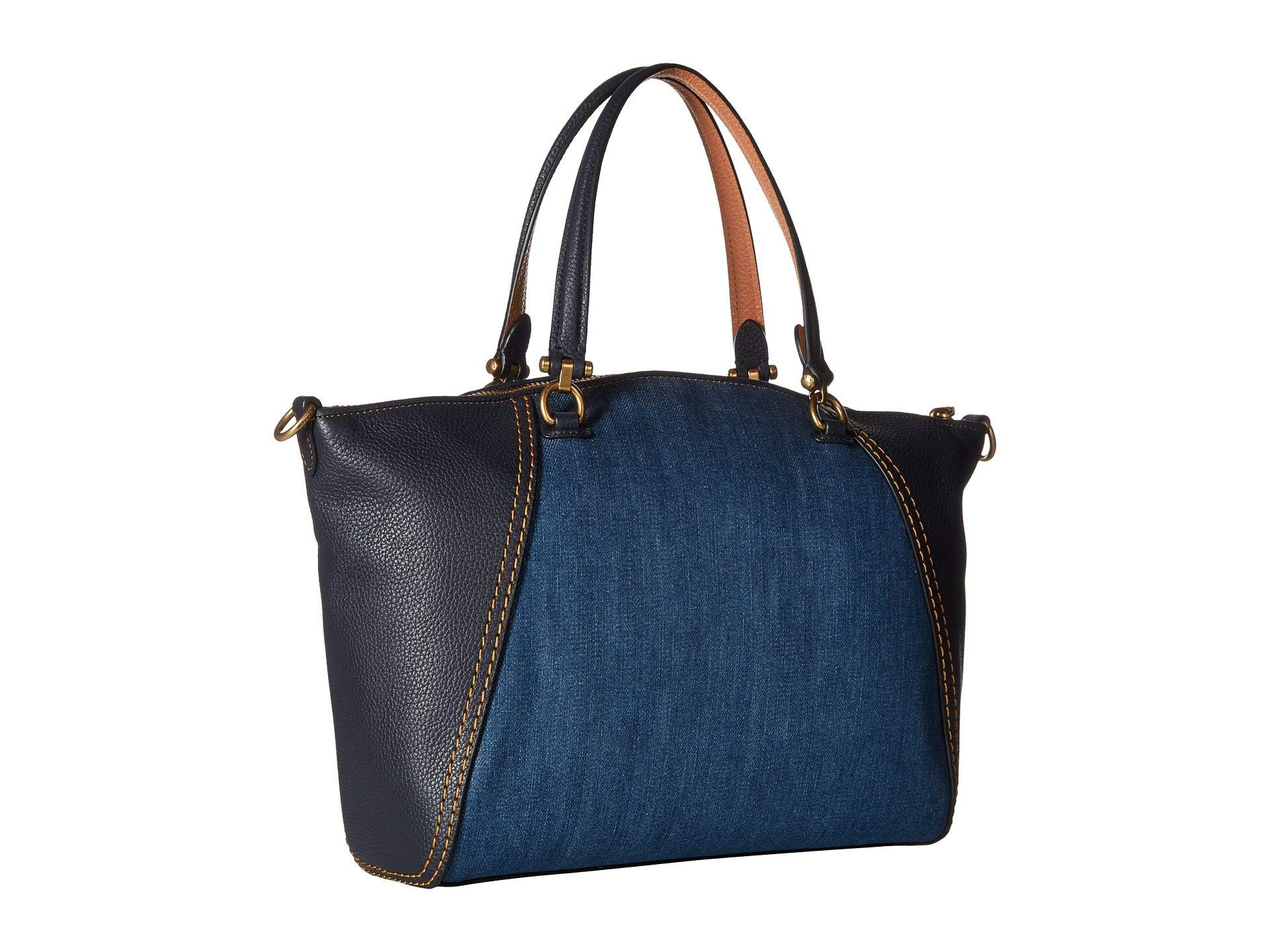 24a0182cff1 Denim And Leather Handbags