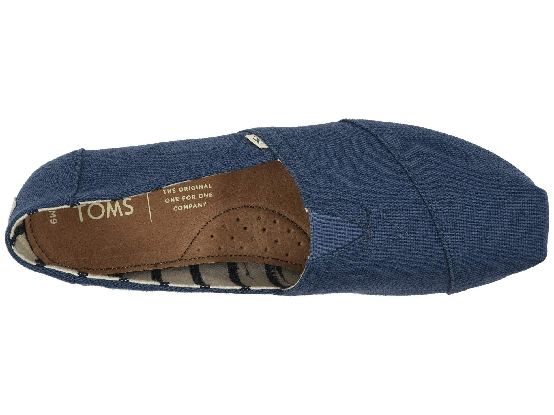 f6f06ddfe79b4f TOMS - Blue Venice Collection Alpargata (unbleached Heritage Canvas) Men s Slip  On Shoes for. View fullscreen