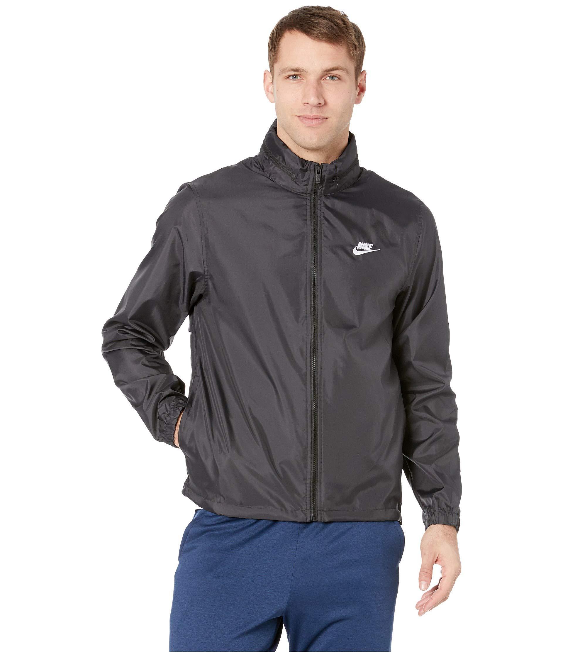Lyst - Nike Nsw Hooded Woven Windbreaker Jacket (black white) Men s ... 24736f70ef2d
