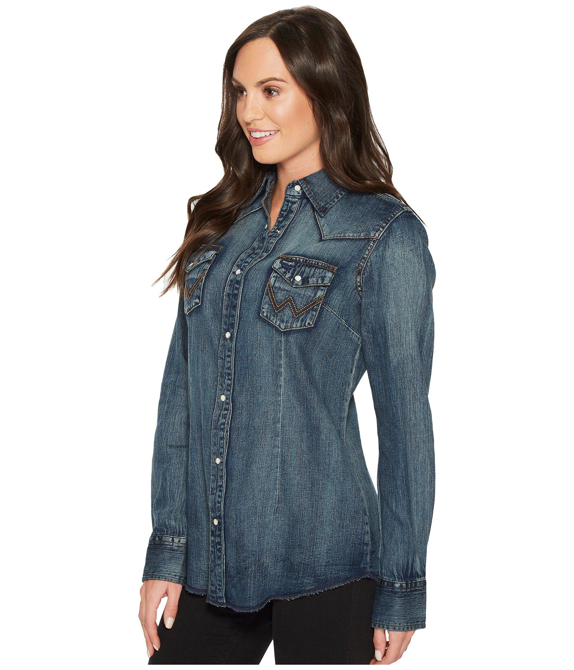 92c632c8ada Denim Long Sleeve Shirt For Womens