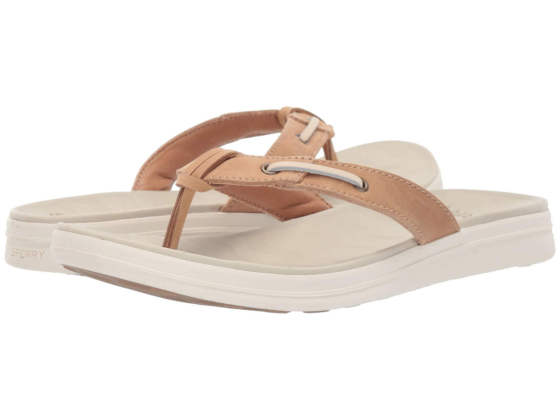 616b9791590d Lyst - Sperry Top-Sider Adriatic Thong Skip Lace Leather (platinum ...