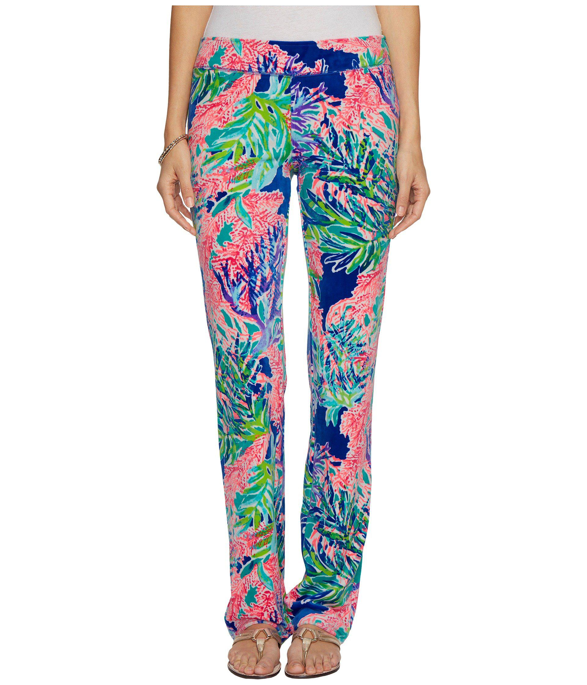584b538f3e6ccf Lilly Pulitzer Jordynne Velour Pants (multi Fan Club Reduced ...