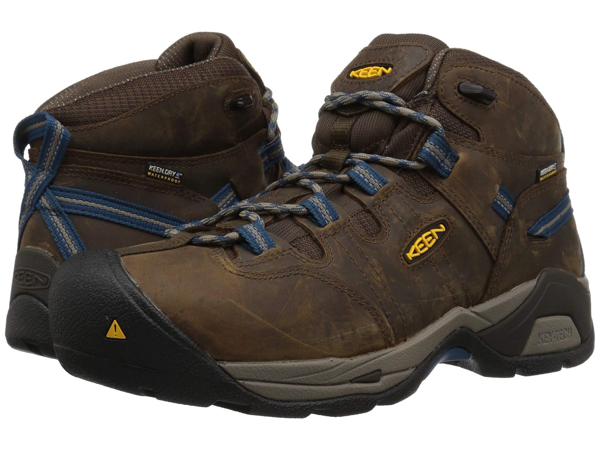 6245bc523b Keen Utility. Detroit Xt Mid Steel Toe Waterproof (cascade Brown/orion  Blue) Men's Work Boots