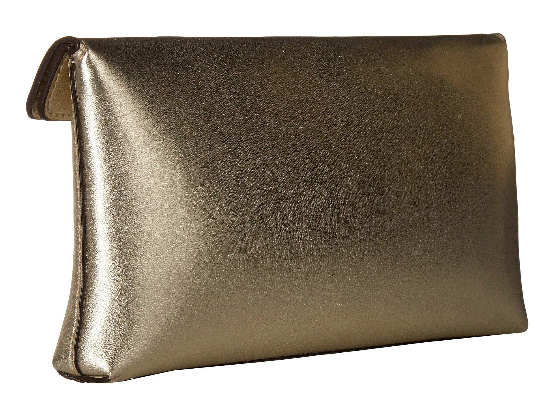 84e6f9cc5fbe Tory Burch - Miller Metallic Clutch (gold) Clutch Handbags - Lyst. View  fullscreen