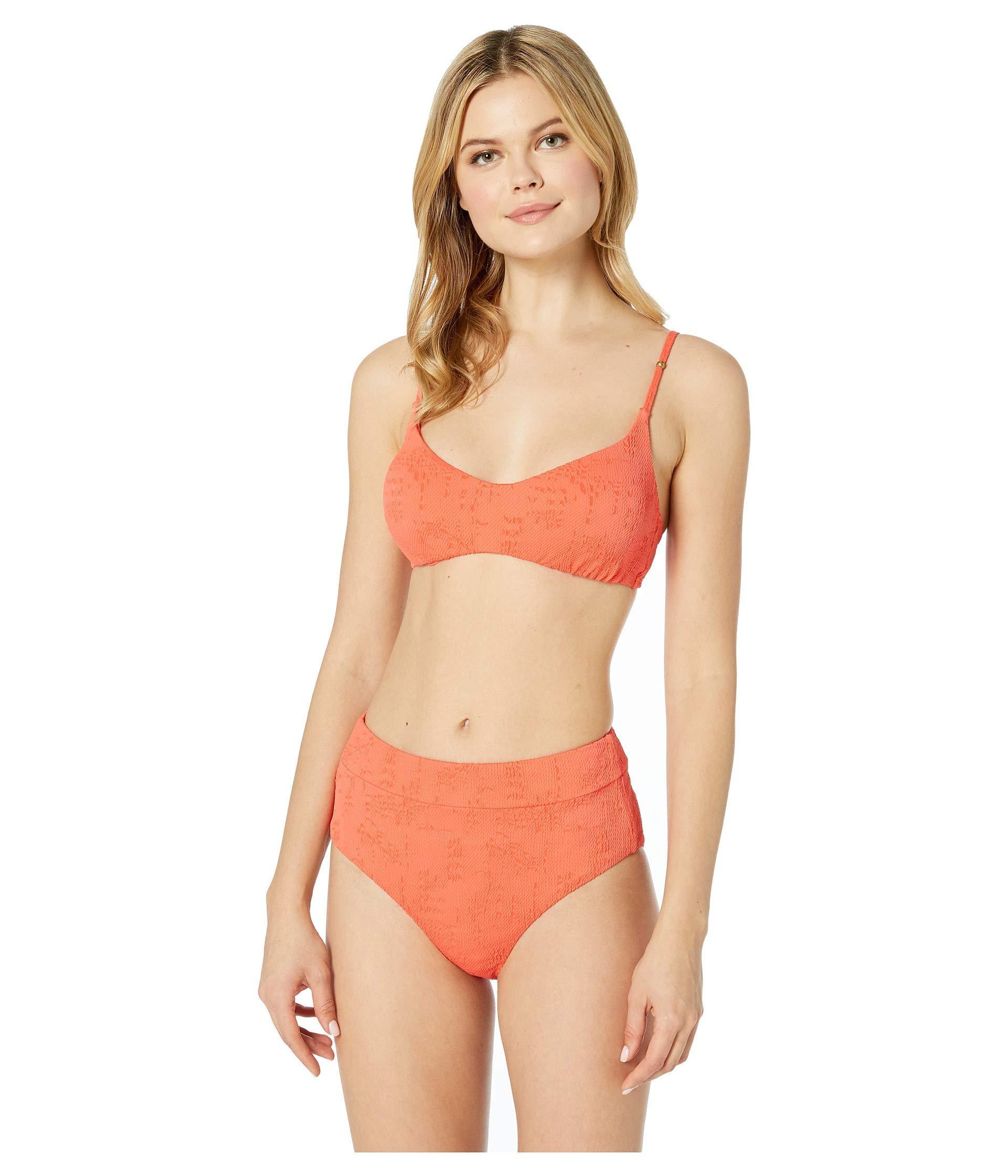 93573bdffaa Lucky Brand - Multicolor Doheny Beach Bralette Top (hot Coral) Women s  Swimwear - Lyst. View fullscreen