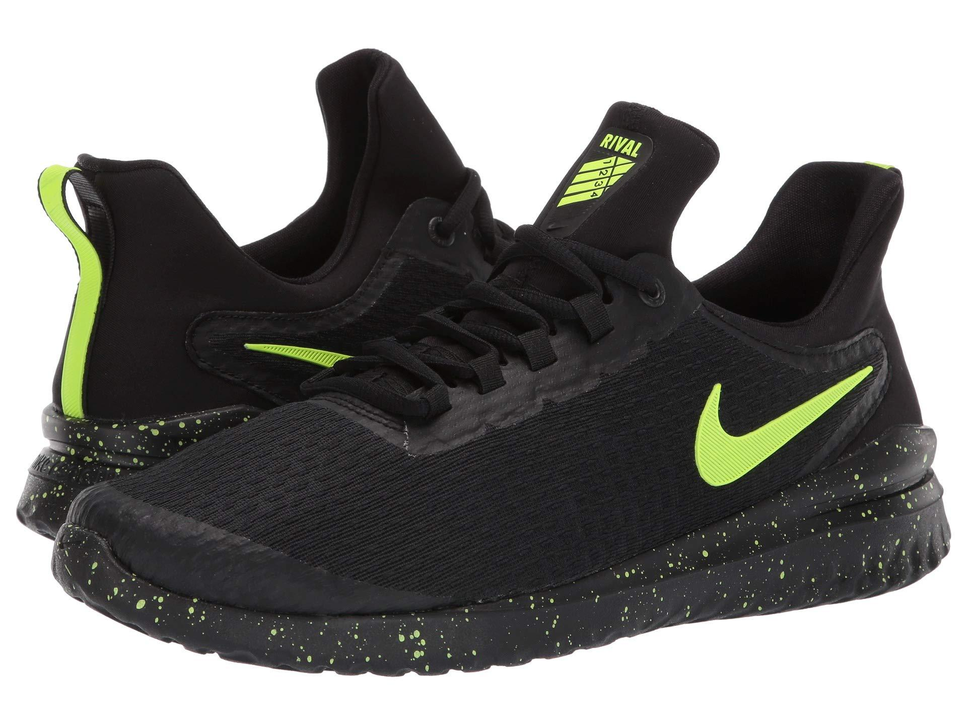 64d87c2672bc6a Lyst - Nike Renew Rival (black volt) Men s Running Shoes in Black ...