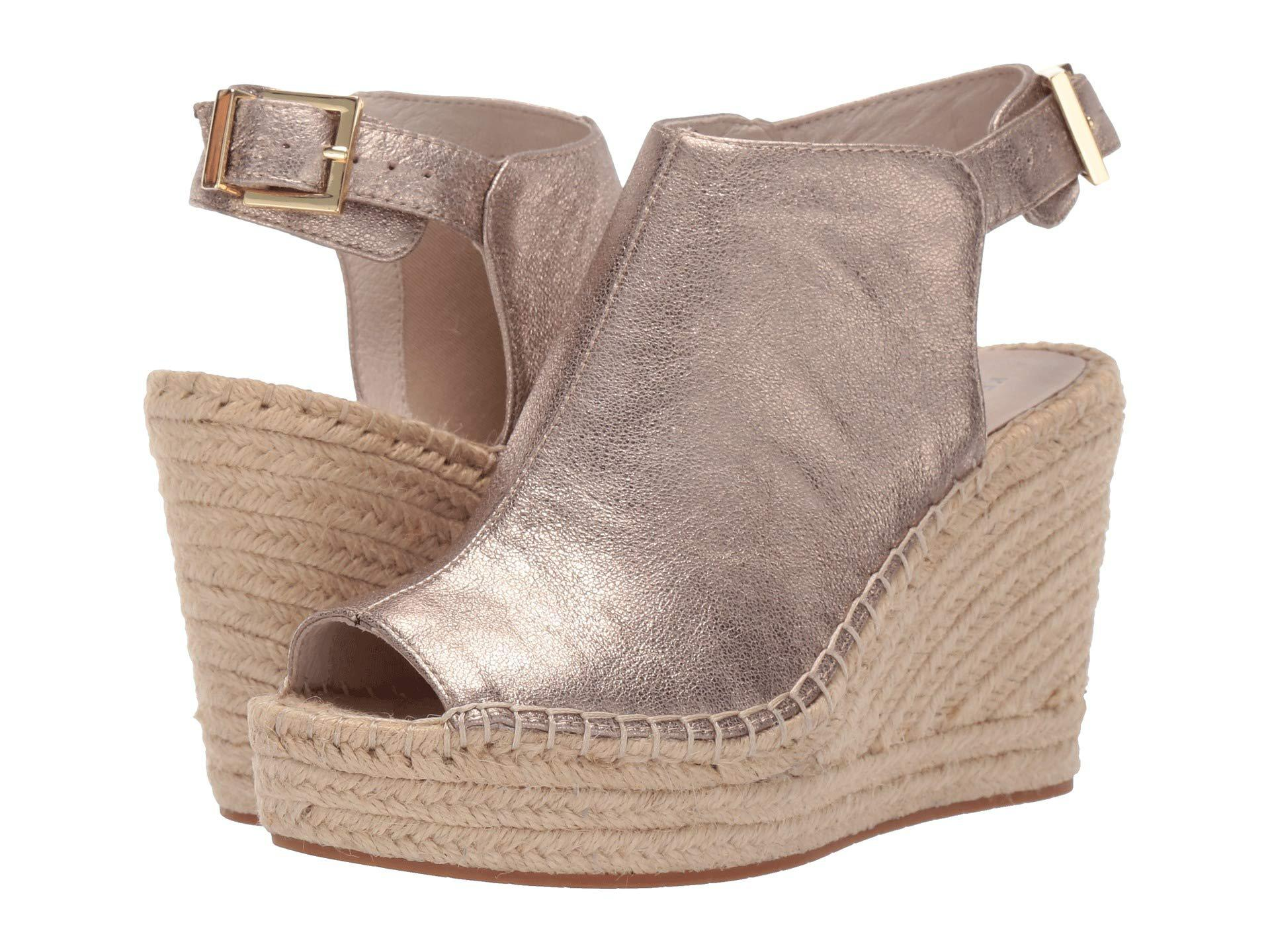 3a7ca8816300 Kenneth Cole. Olivia (light Gold Metallic Leather) Women s Wedge Shoes