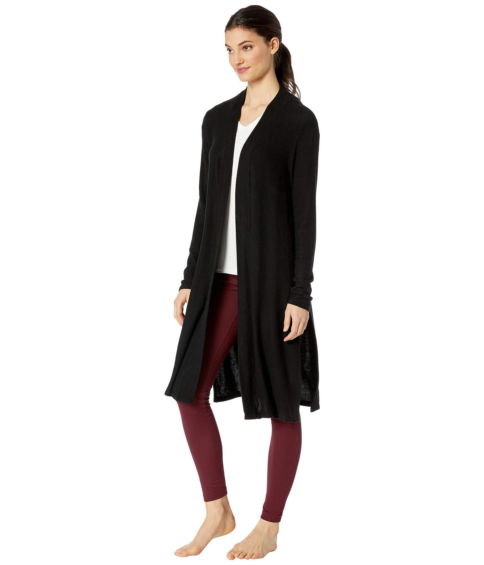 771093e9f1 Lyst - Beyond Yoga High Slits Long Duster (oatmeal Heather) Women's Sweater  in Black