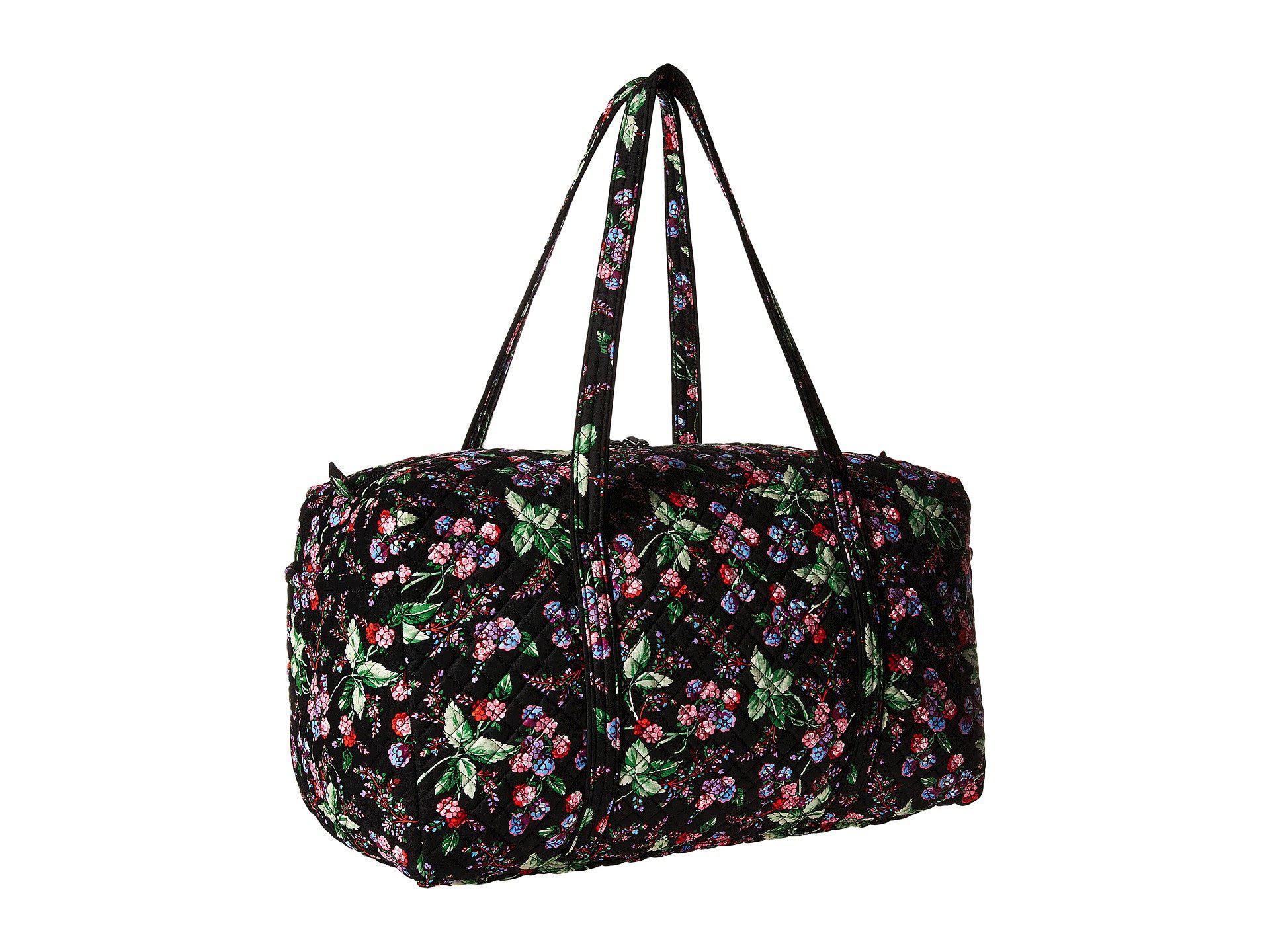 953e899607 Vera Bradley - Iconic Large Travel Duffel (classic Black) Duffel Bags -  Lyst. View fullscreen