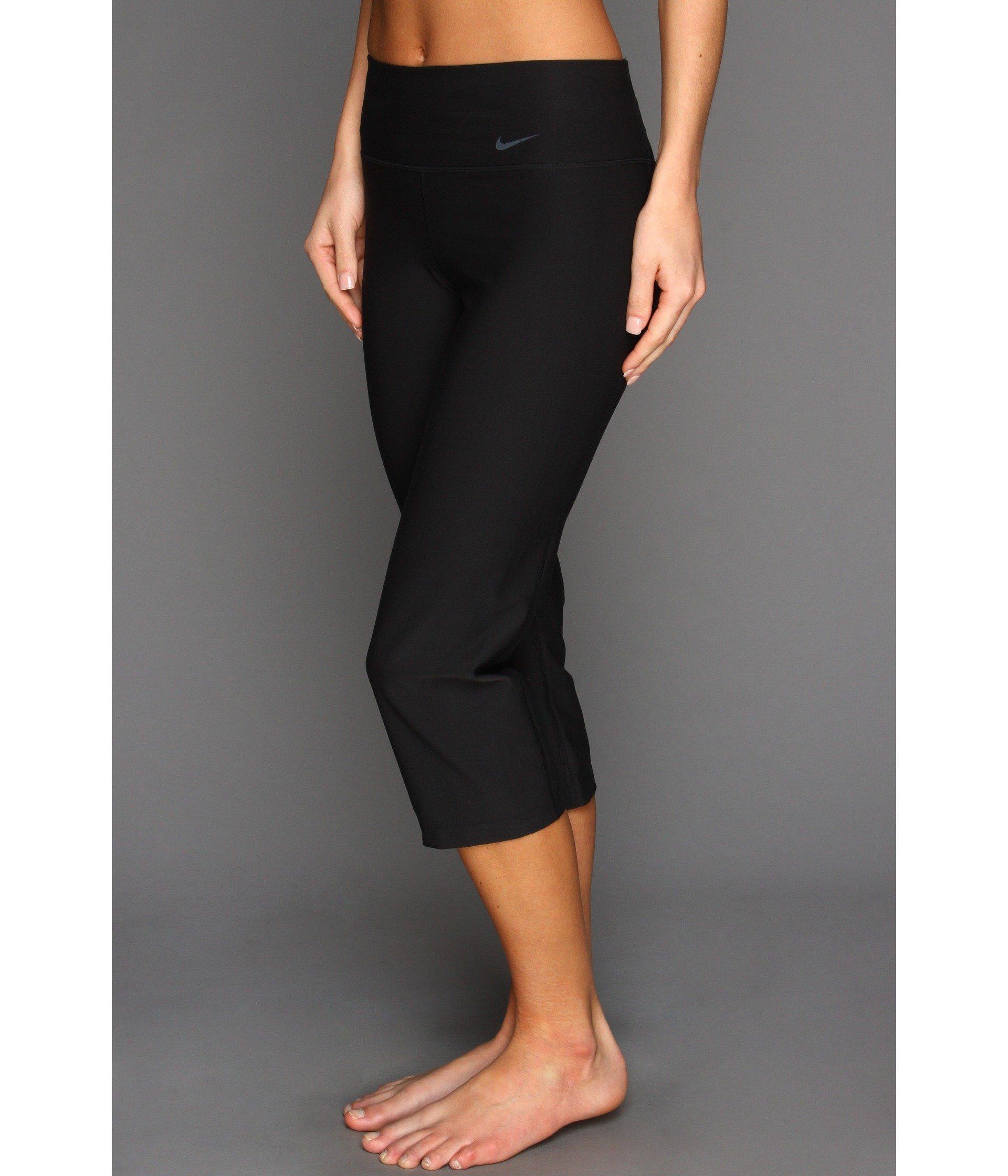 a410d5a58a648 Nike Legend 2.0 Slim Poly Capri (black/black/cool Grey) Women's ...