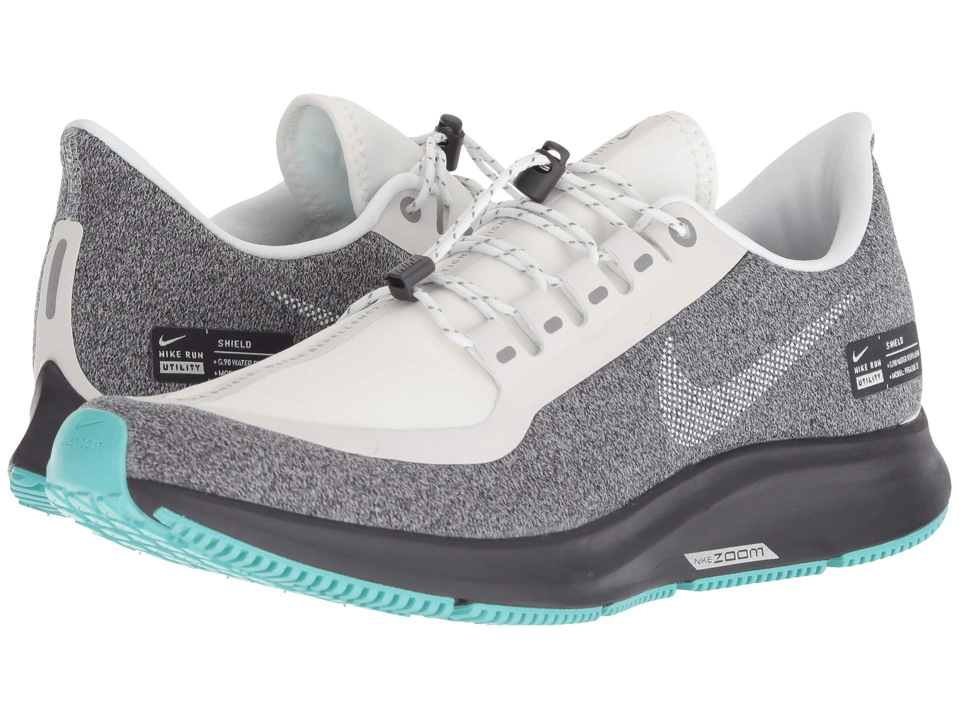 0ab4f845c9c4 Nike. Air Zoom Pegasus 35 Shield (oil Grey metallic Silver smokey Mauve) Women s  Running Shoes