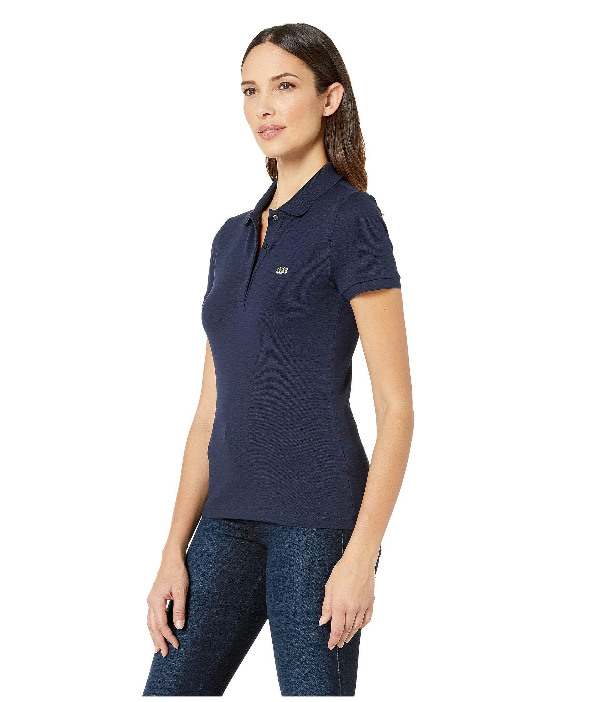 bf4de49d Lyst - Lacoste Short Sleeve Slim Fit Keith Haring Semi Fancy Polo (white) Women's  Clothing in Blue