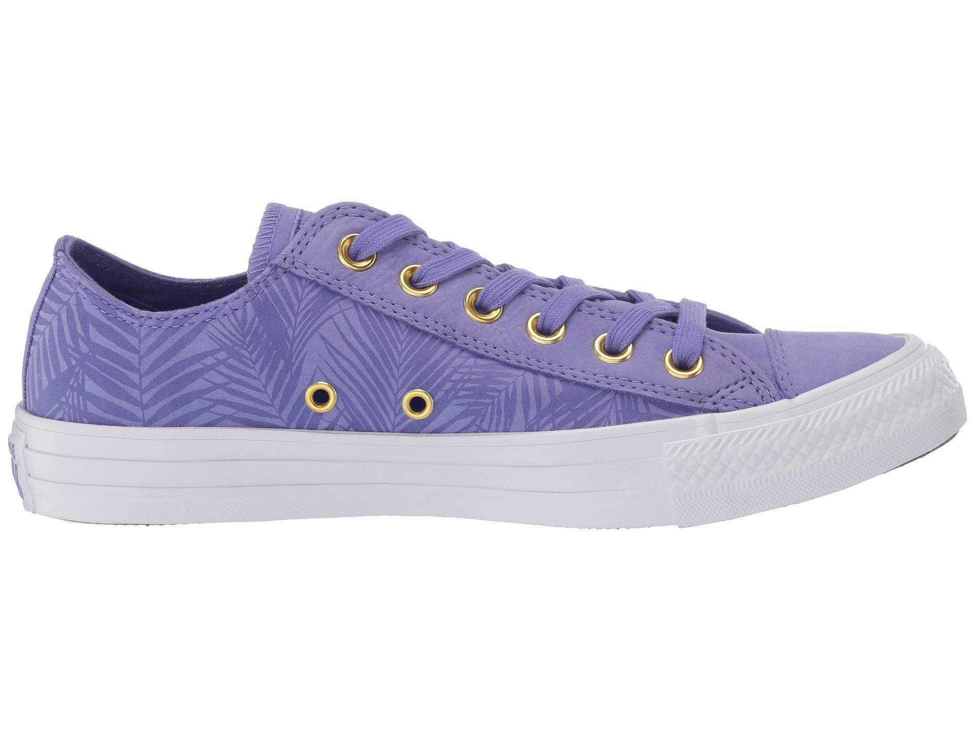 020b6ba8ead1 Lyst - Converse Chuck Taylor All Star Summer Palms - Ox (wild Lilac antique  Brass white) Women s Classic Shoes in Purple