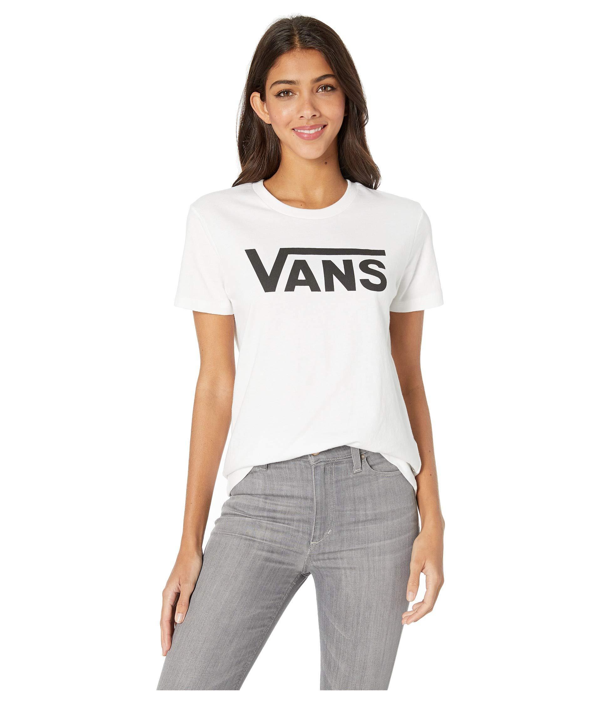 f43b6651 Vans - White Flying V Crew T-shirt (poppy Red) Women's Clothing -. View  fullscreen