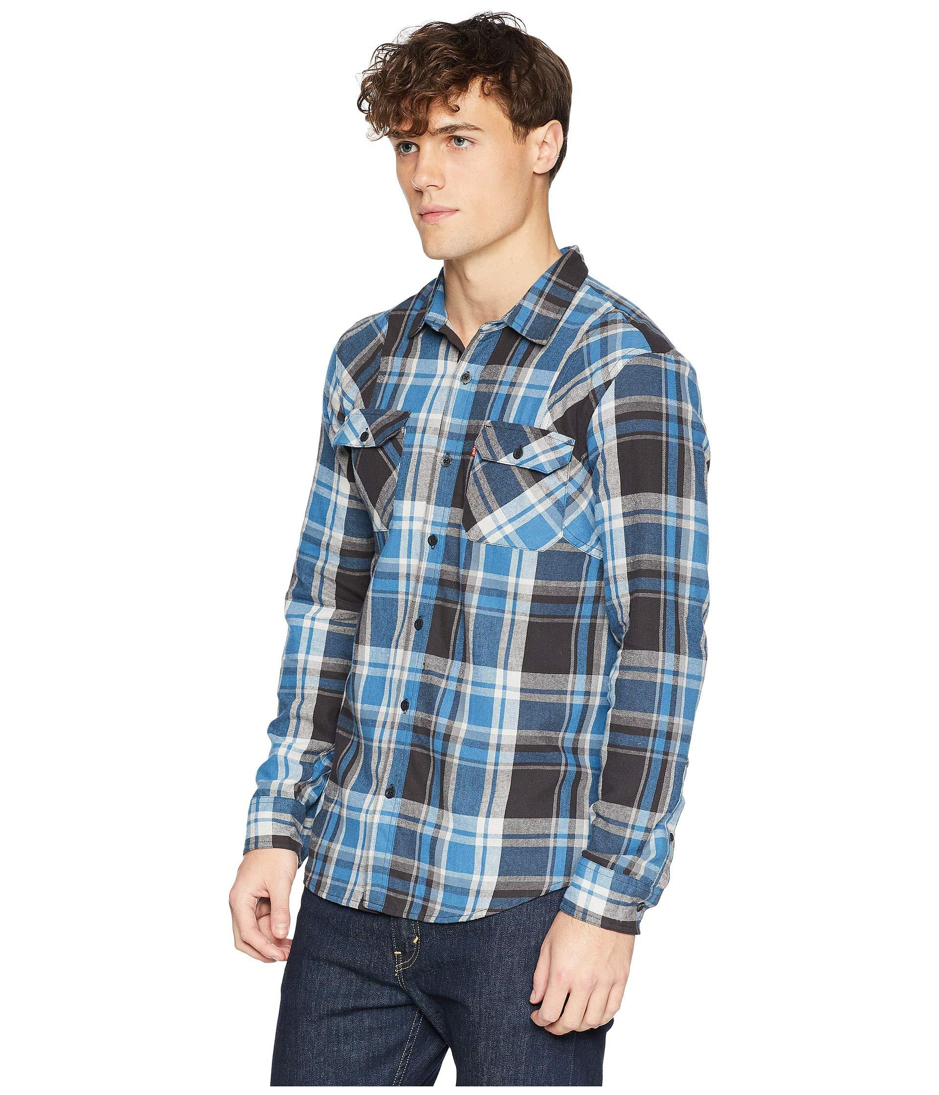 Lyst - Levi S Levi s(r) Torino Long Sleeve Woven (dark Phantom) Men s  Clothing in Blue for Men 1c1b4b420