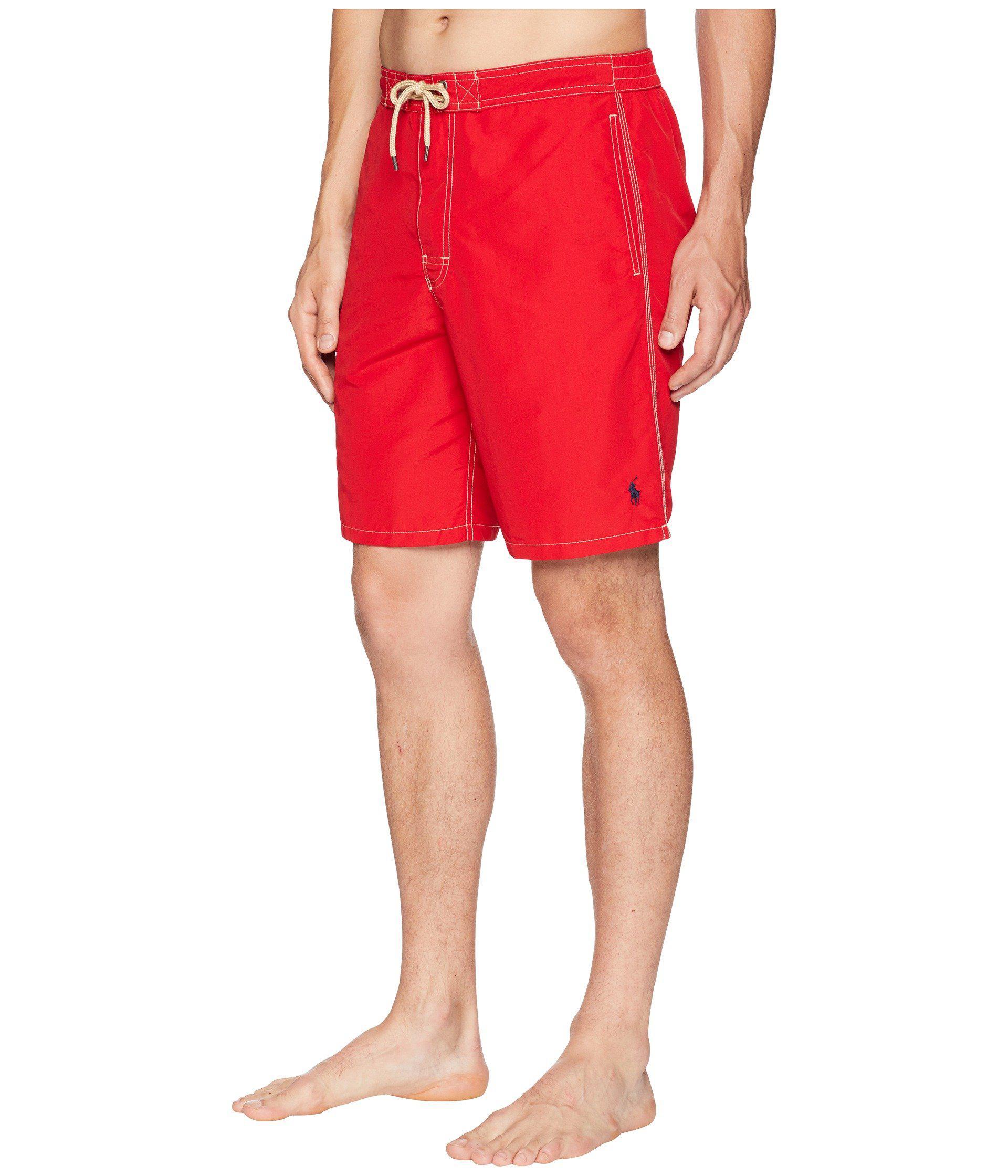 35f335074529f ... discount lyst polo ralph lauren kailua swim trunks hammond blue mens  swimwear in red for men