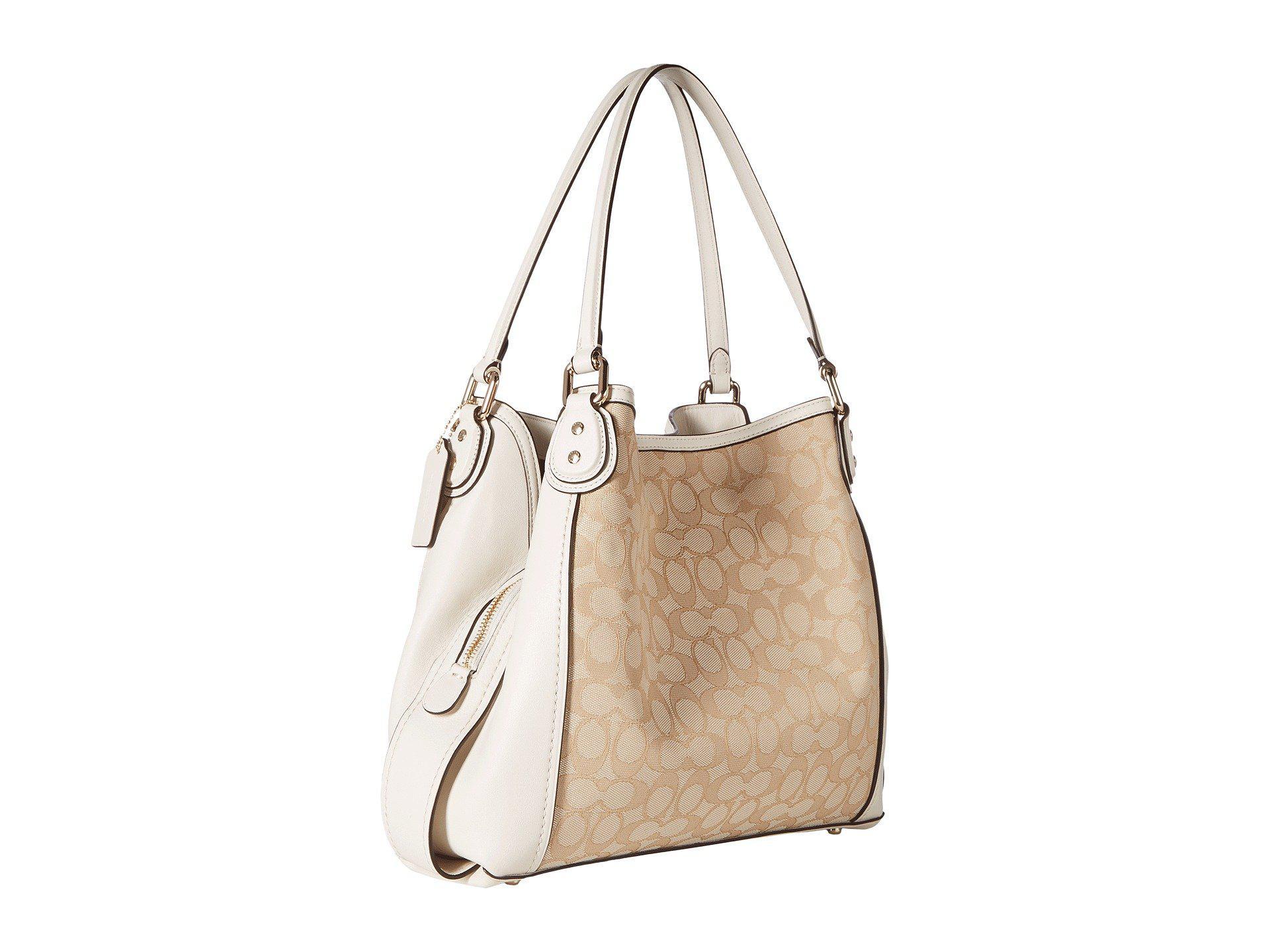 0003a2ff57 COACH - Natural Signature Edie 31 Shoulder Bag (li khaki brown) Handbags.  View fullscreen