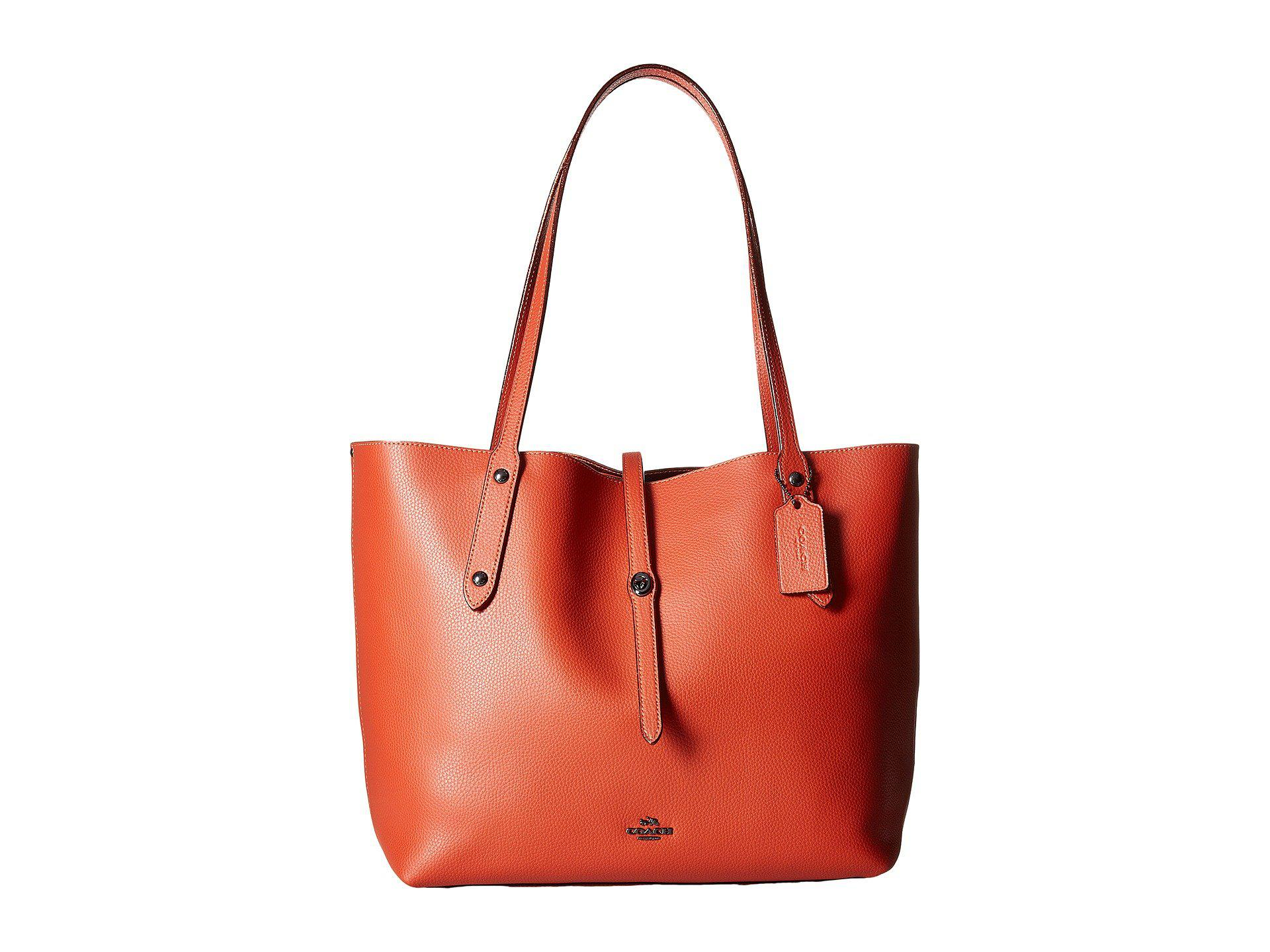 403555bcd9c COACH Market Tote With Metallic Lining in Red - Lyst