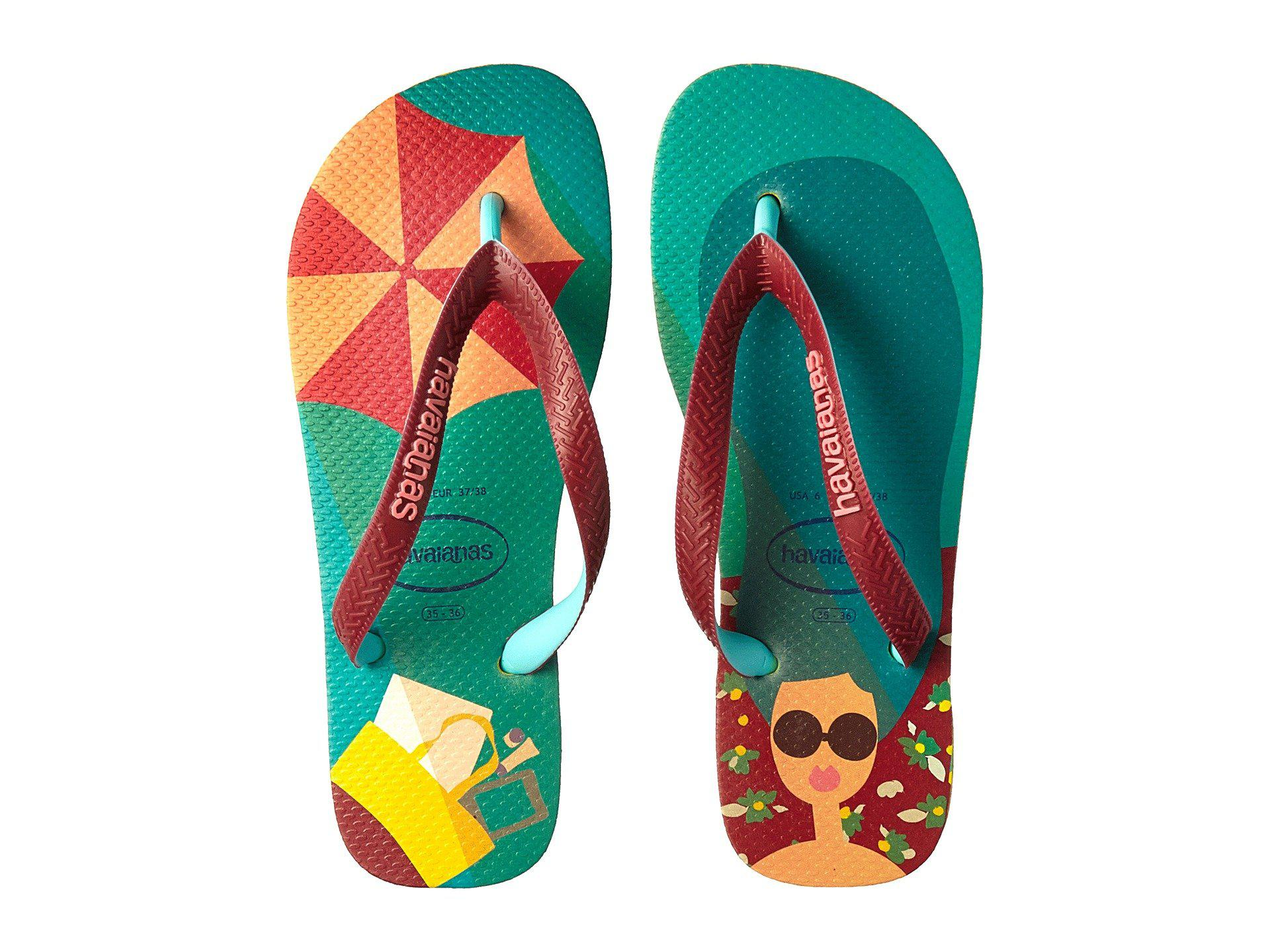 8f08cf1034cc Lyst - Havaianas Top Fashion Flip-flops (petroleum) Women s Sandals ...