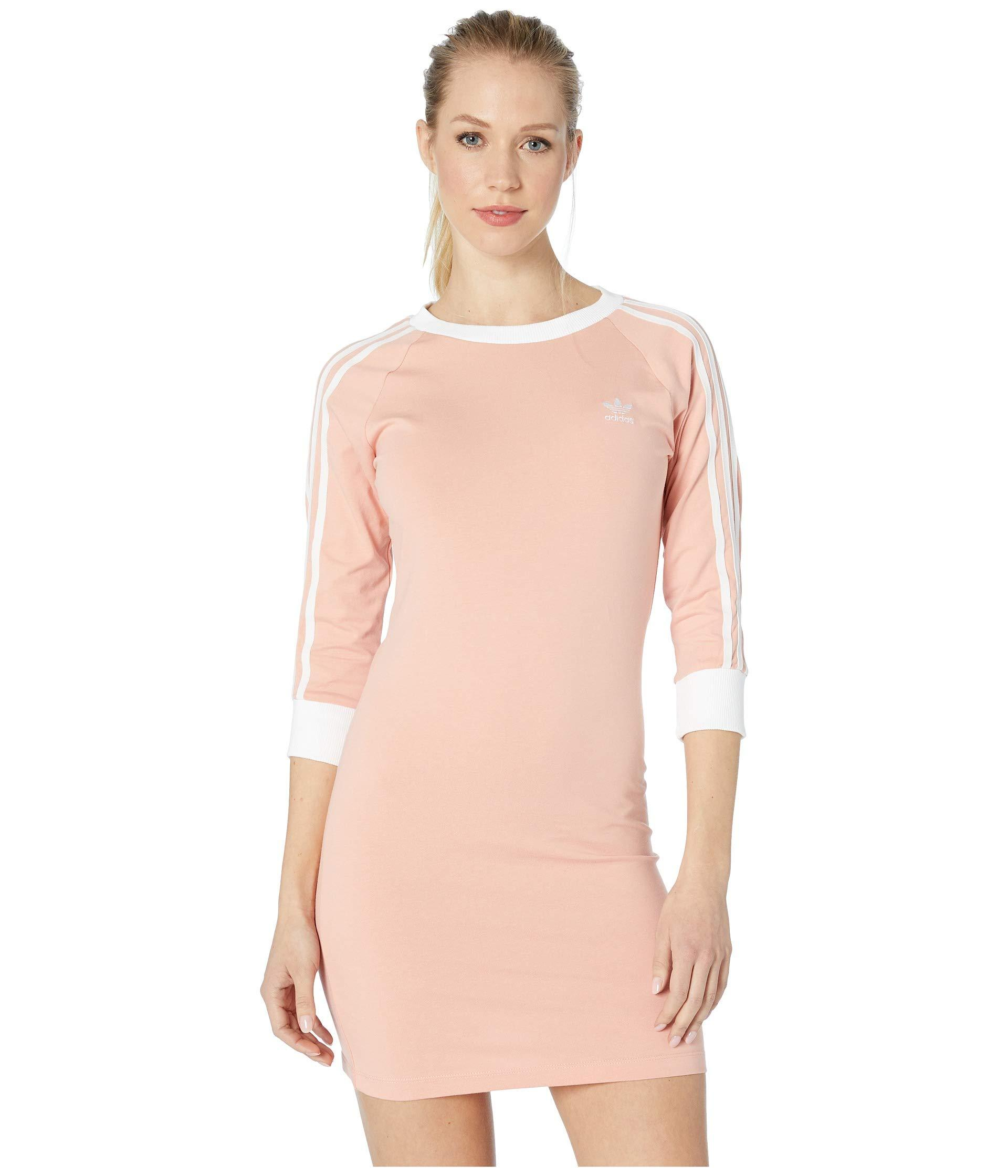 9493177445 Lyst - adidas Originals 3-stripes Dress (dust Pink) Women s Dress in ...