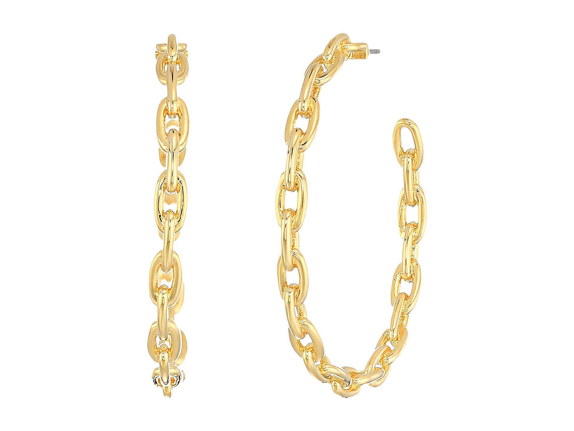 Kate Spade New York Chain Reaction Link Hoops Earrings 6hbBg9T
