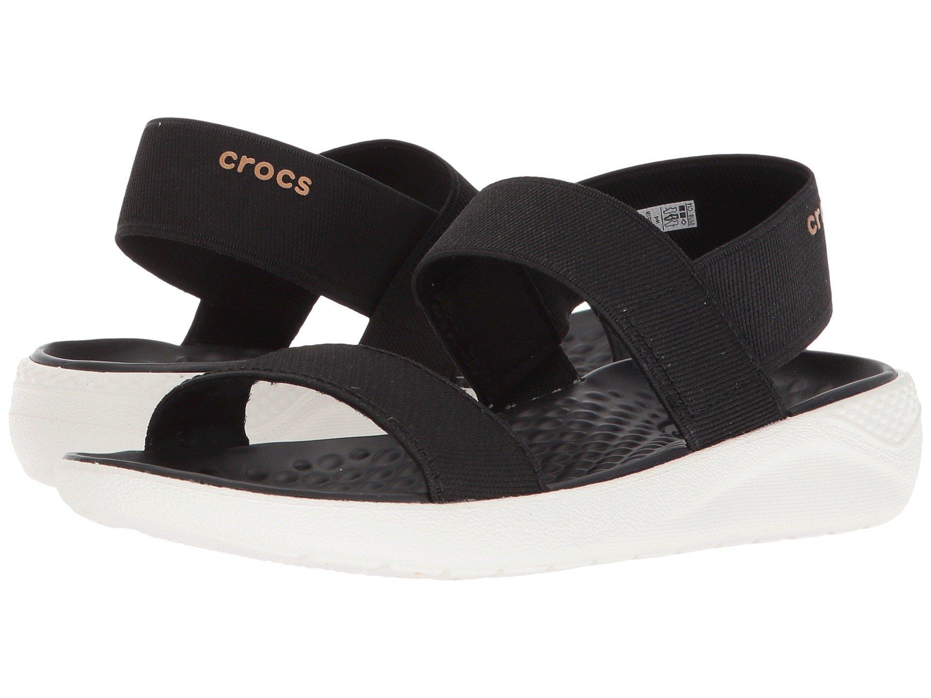 00378d81c7a6 Crocs™ - Black Literide Sandal (smoke smoke) Women s Shoes - Lyst. View  fullscreen