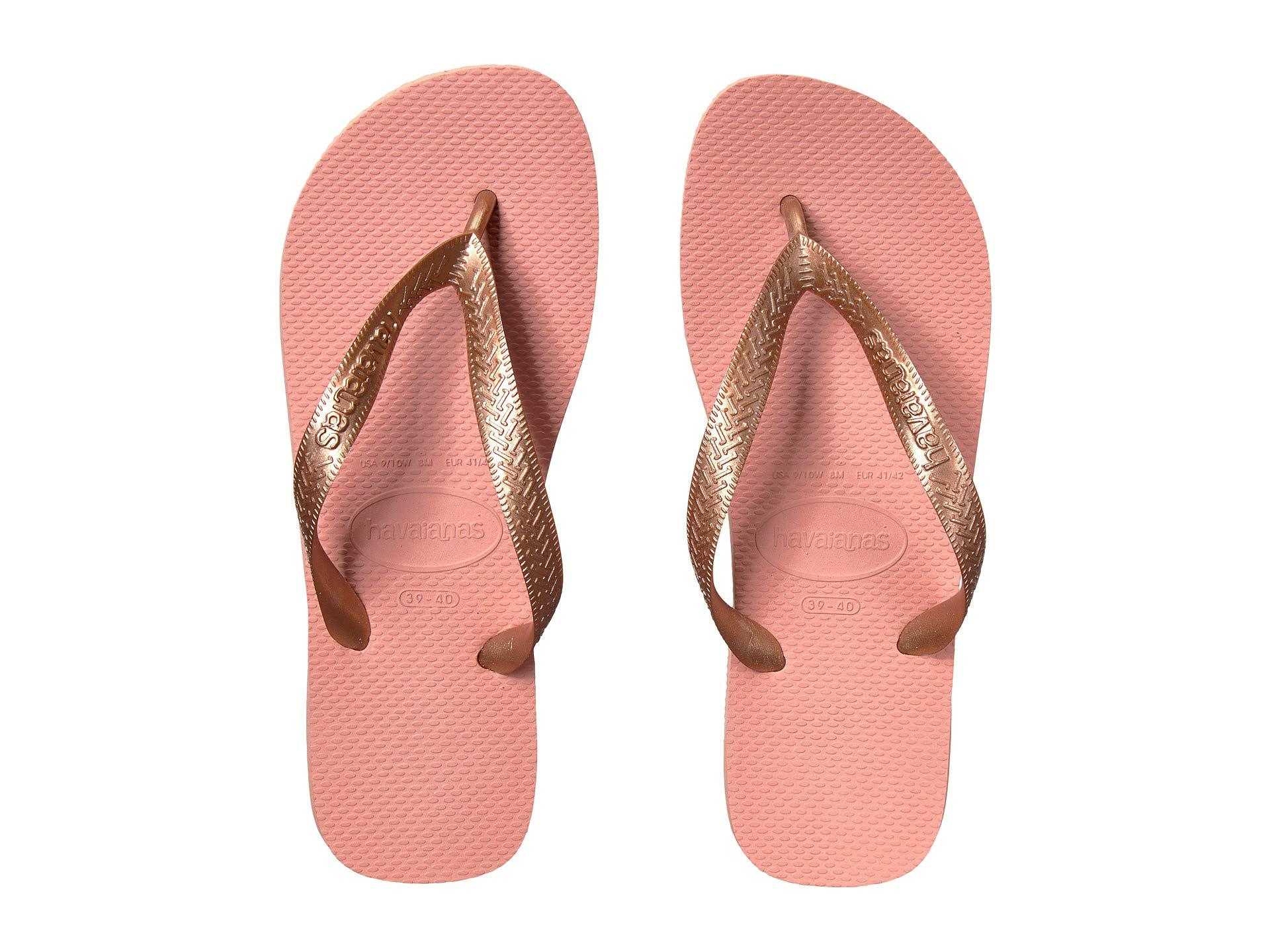 0a20a638c Havaianas - Pink Top Tiras Flip-flops (rose Gold) Women s Sandals - Lyst.  View fullscreen