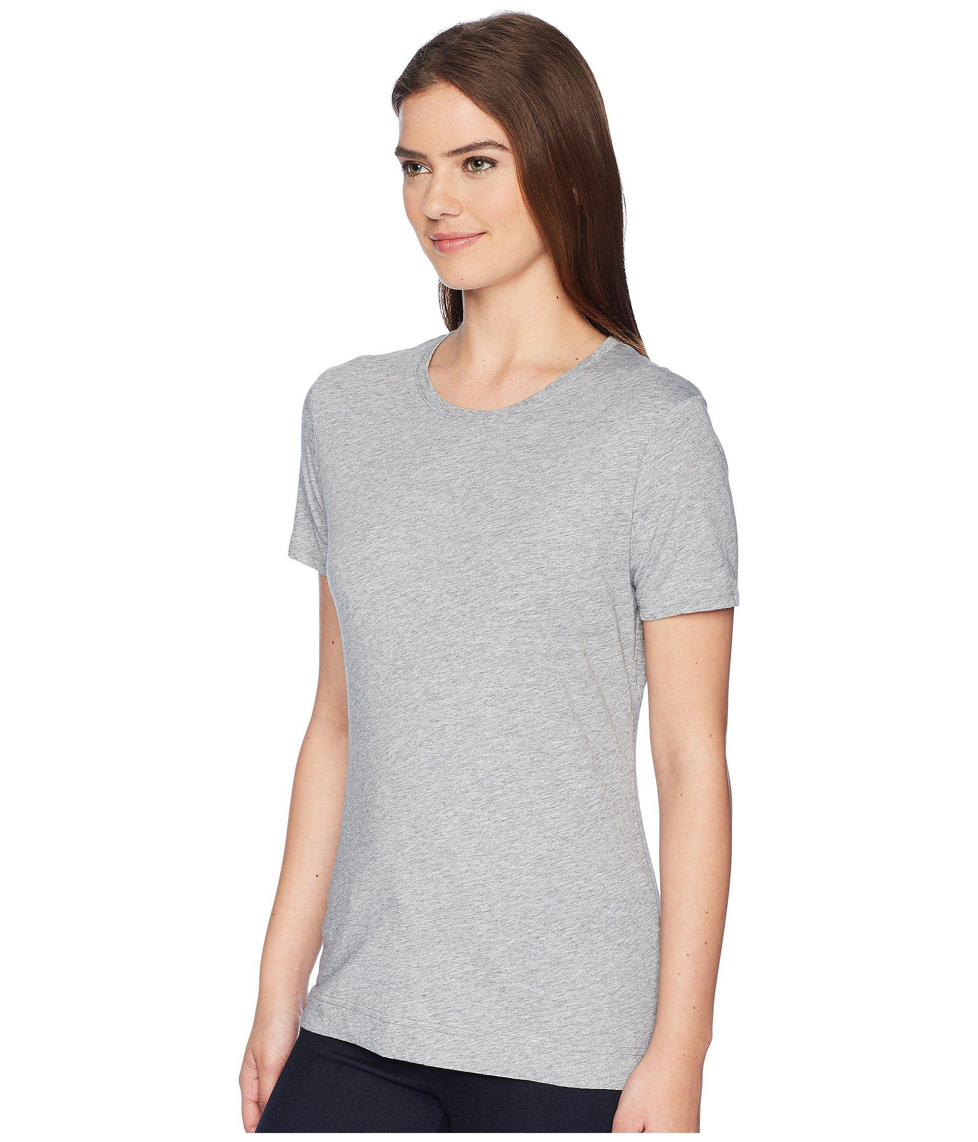 4b79105a761 Lyst - Adam Lippes Short Sleeve Crew Neck Core Tee (black) Women s T Shirt  in Gray - Save 31.578947368421055%