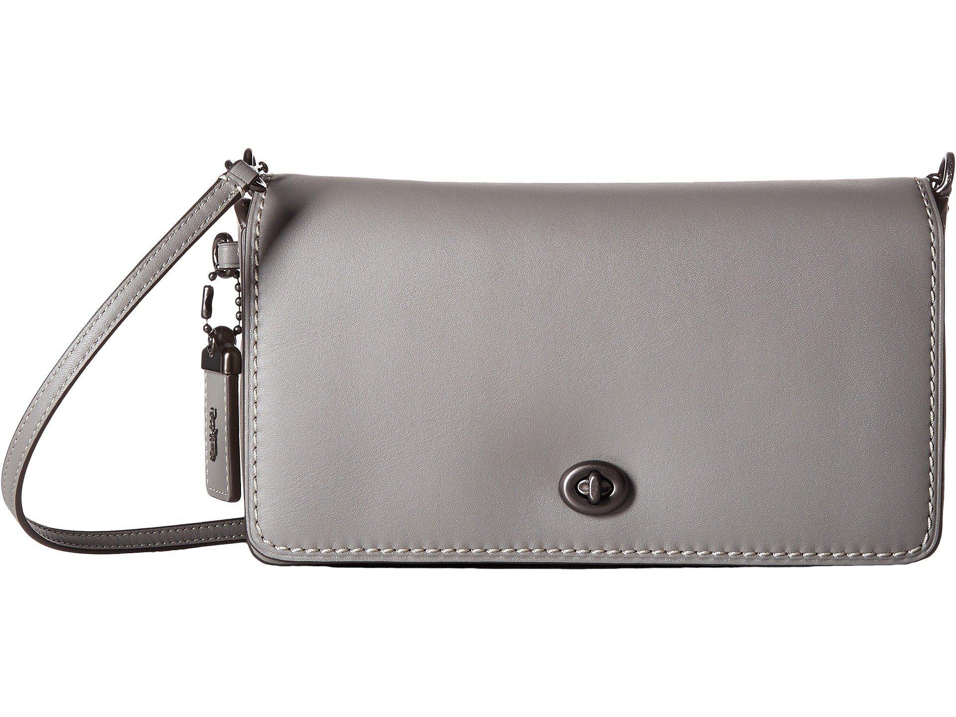 63f28095fa5 Lyst - COACH Dinky In Glovetanned Leather (bp heather Grey) Handbags ...