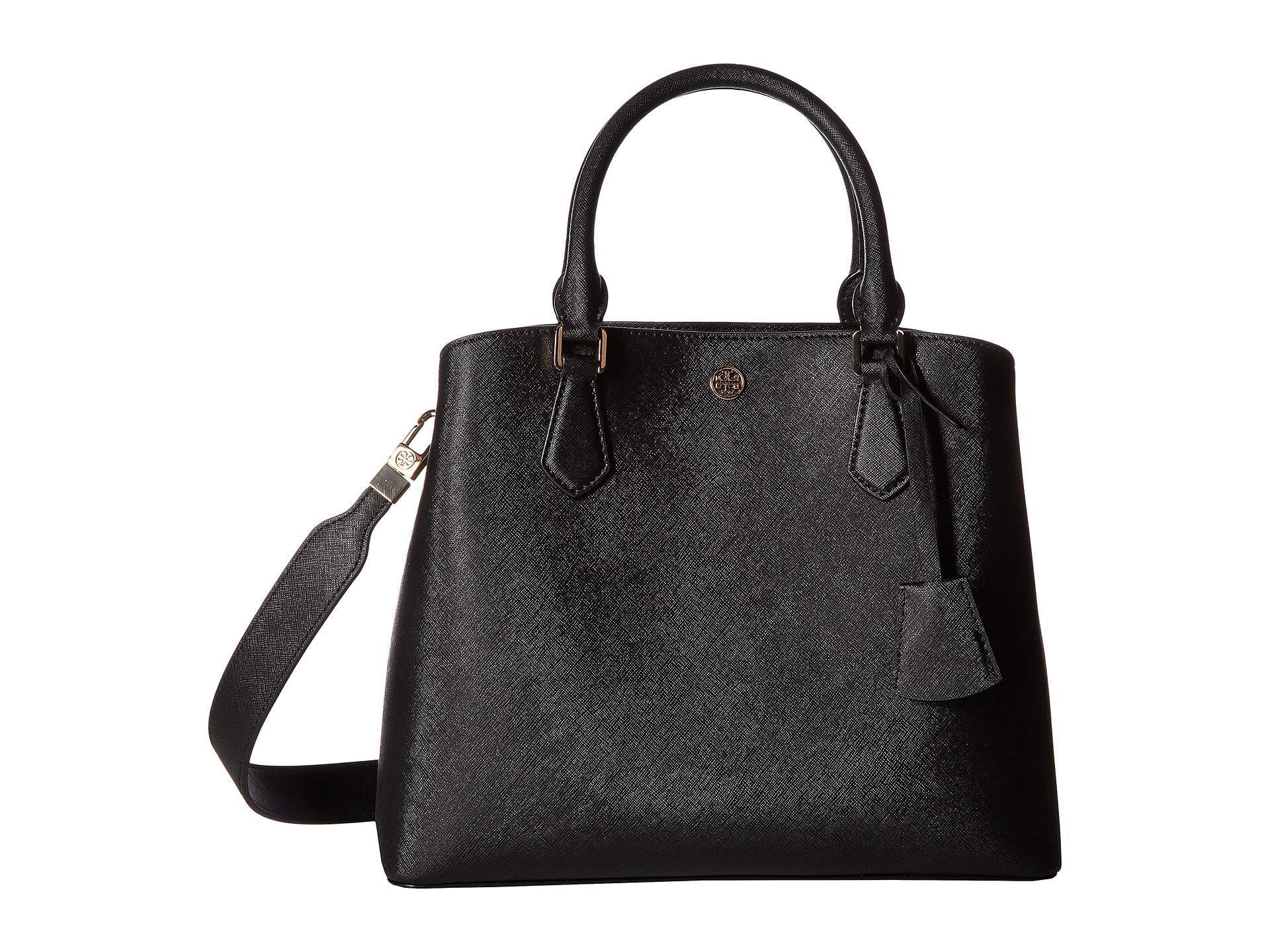 5295e7b6250 Lyst - Tory Burch Robinson Triple-compartment Tote (black) Handbags ...