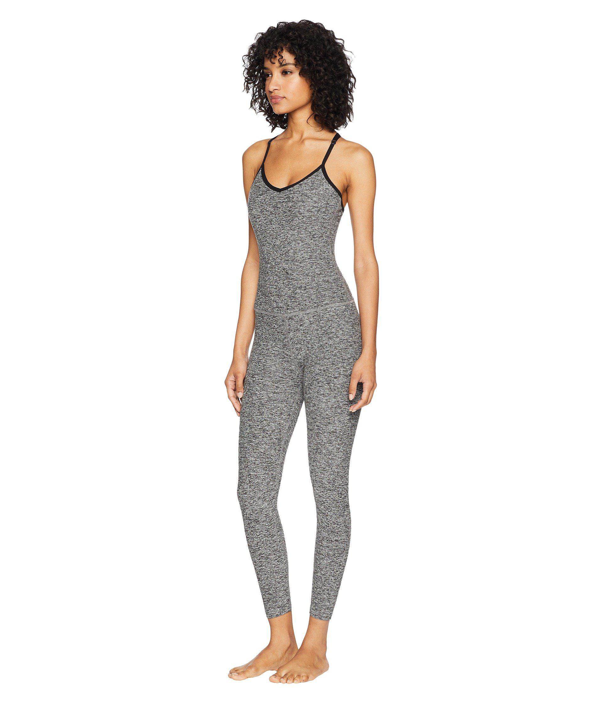 5cef9201ba Beyond Yoga Spacedye Elevation Capris Bodysuit (black/white) Women's ...